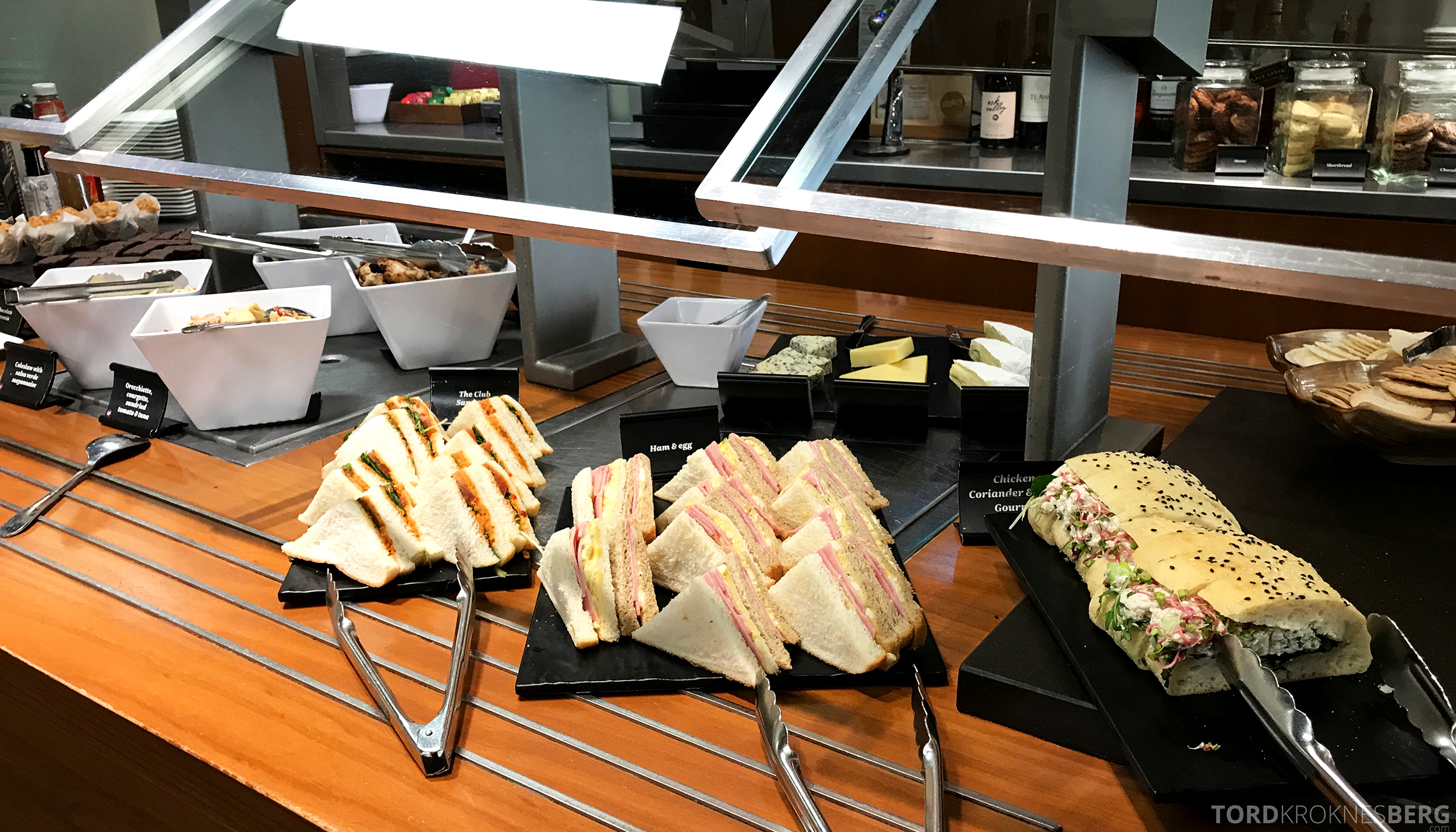 Air New Zealand Lounge Wellington sandwich