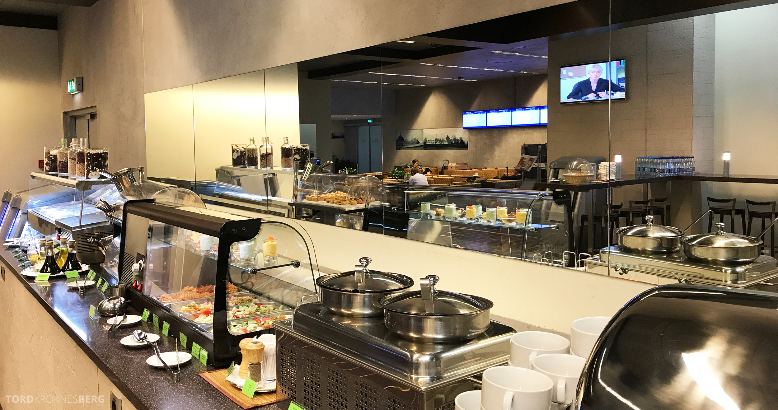 Airport Business Lounge Moskva buffet