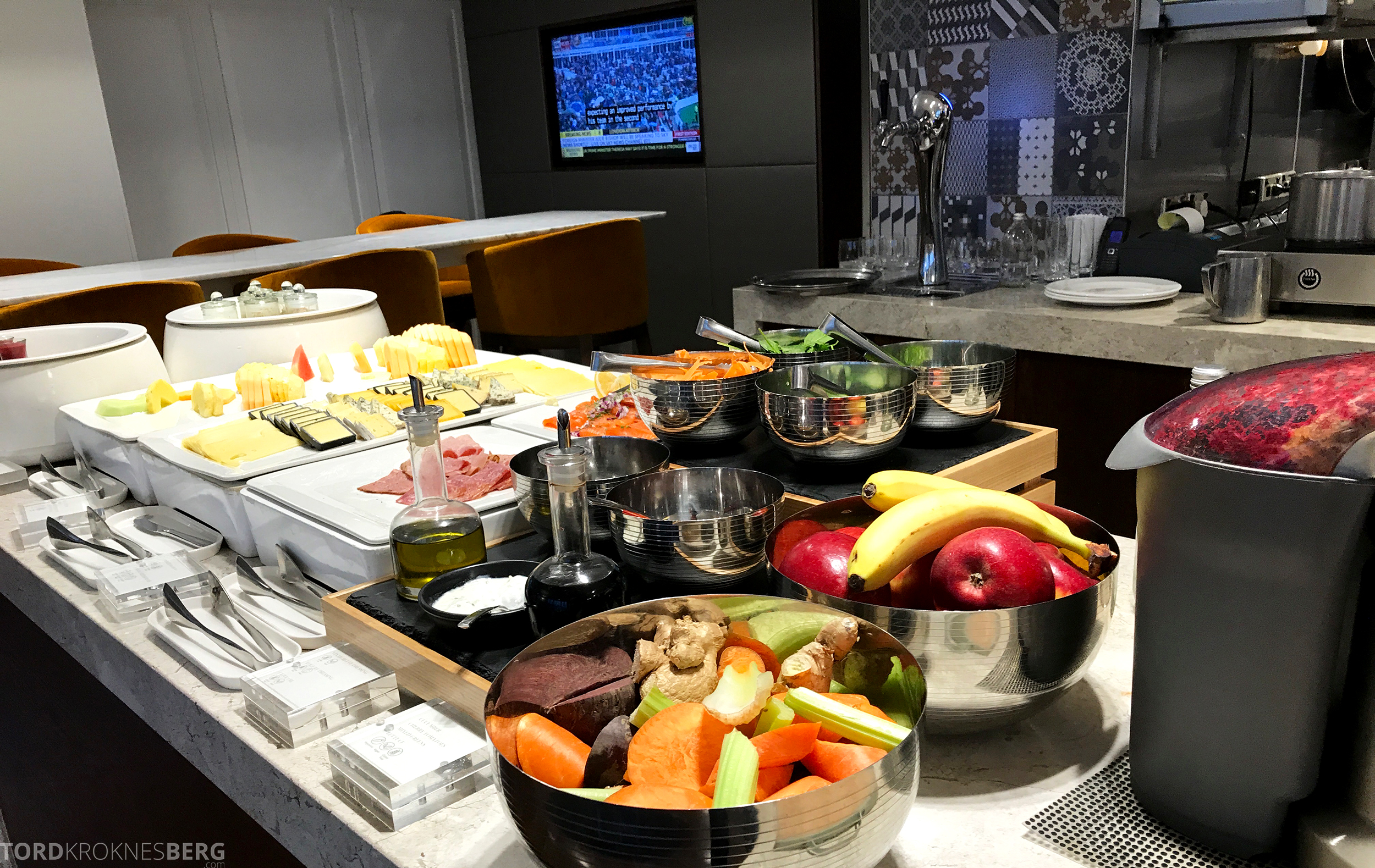 InterContinental Wellington Club Lounge frokostbuffet