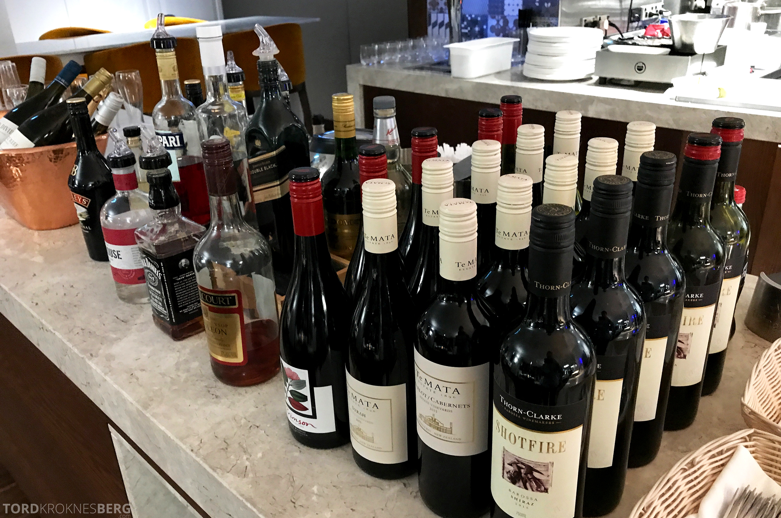 InterContinental Wellington Club Lounge hors d'oeuvre drikke