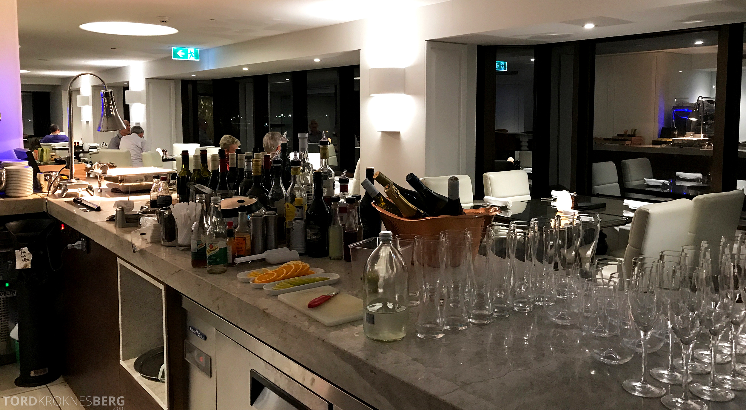 InterContinental Wellington Club Lounge hors d'oeuvre drikke