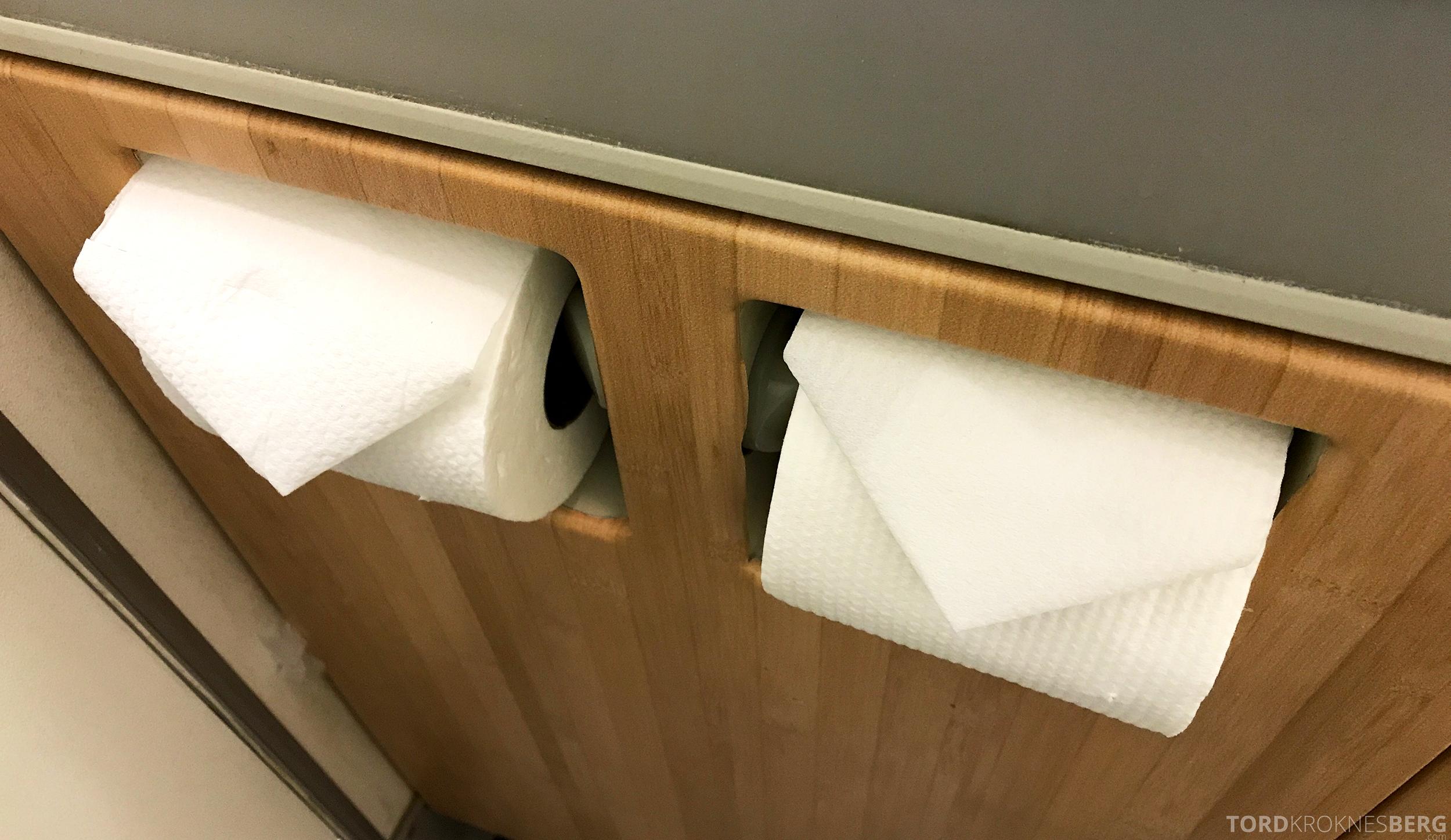 Singapore Airlines Business Class Canberra toalettpapir