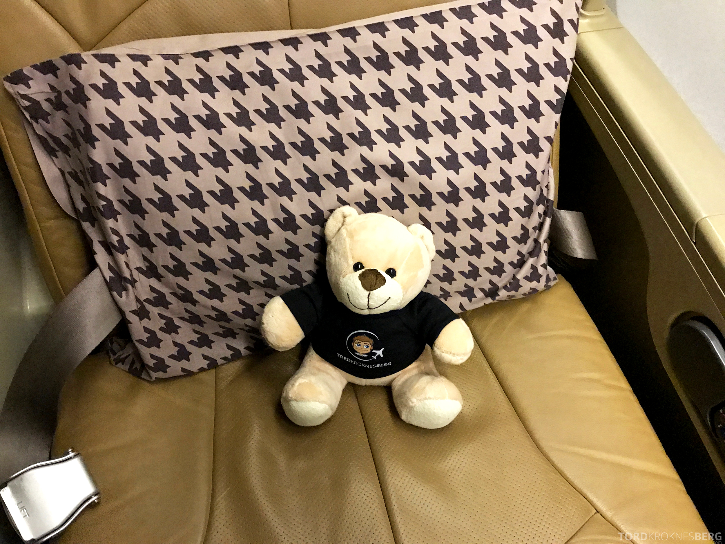 Singapore Airlines Business Class Canberra reisefølge i sete