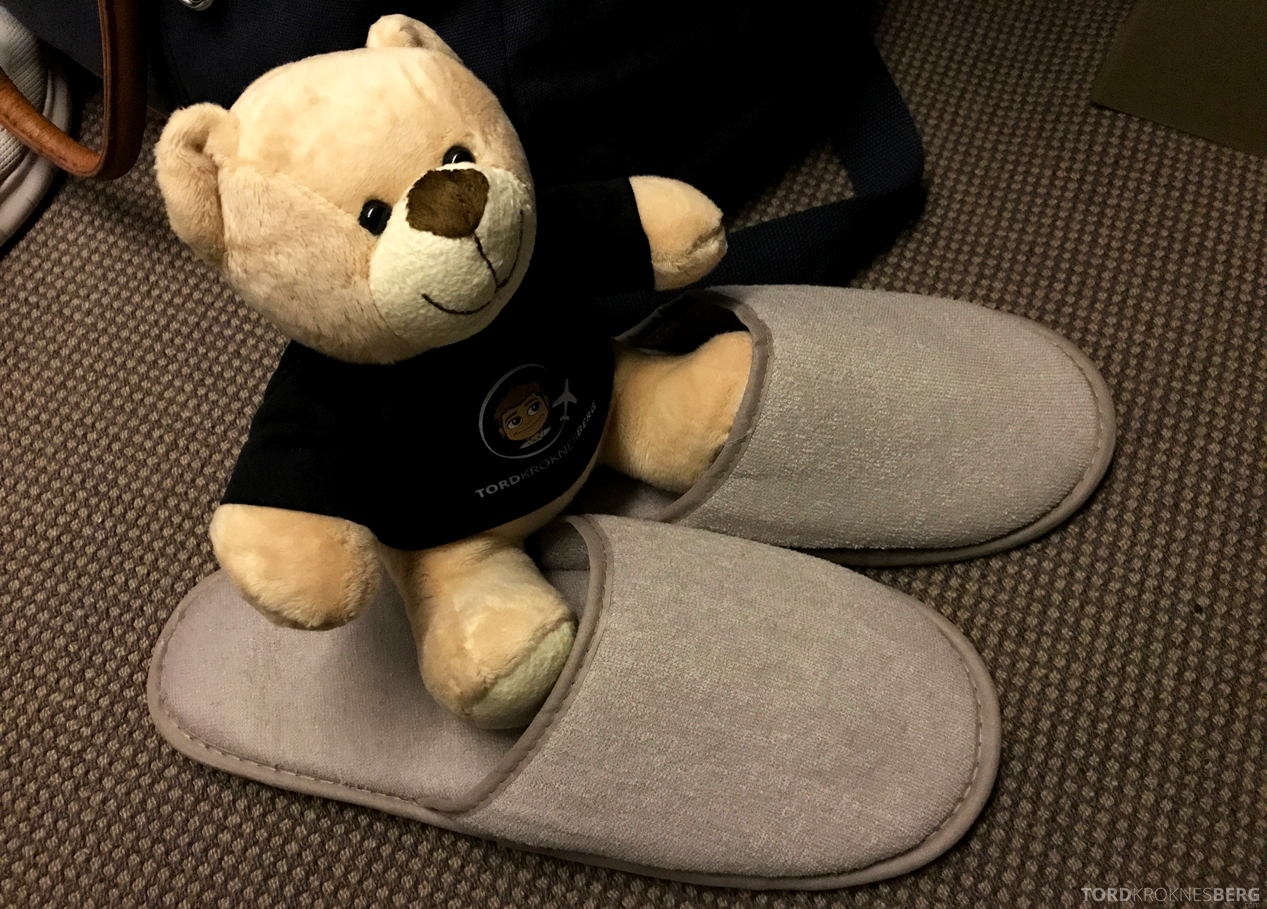 Singapore Airlines Business Class Canberra reisefølget slippers