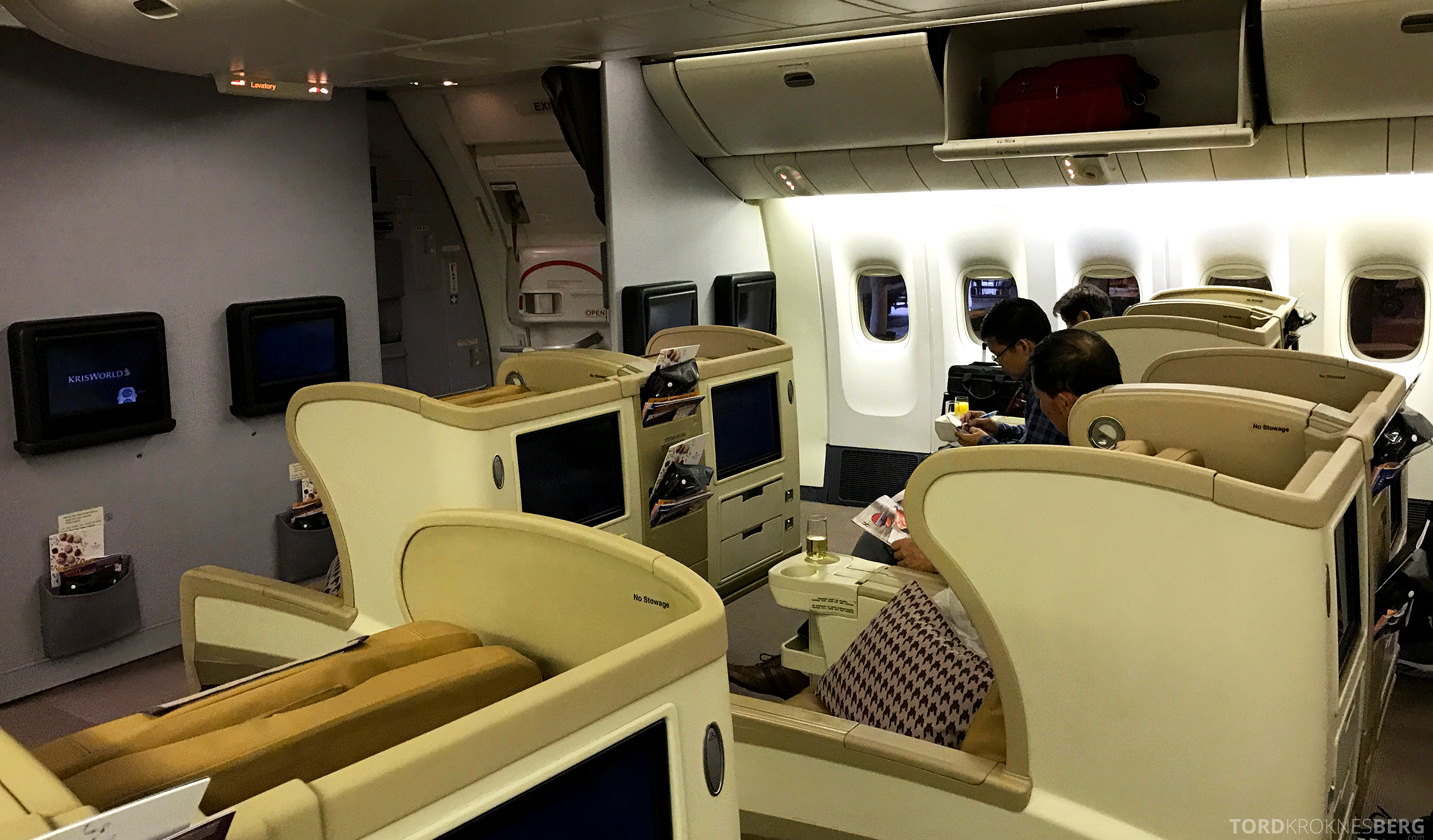 Singapore Airlines Business Class Canberra kabin