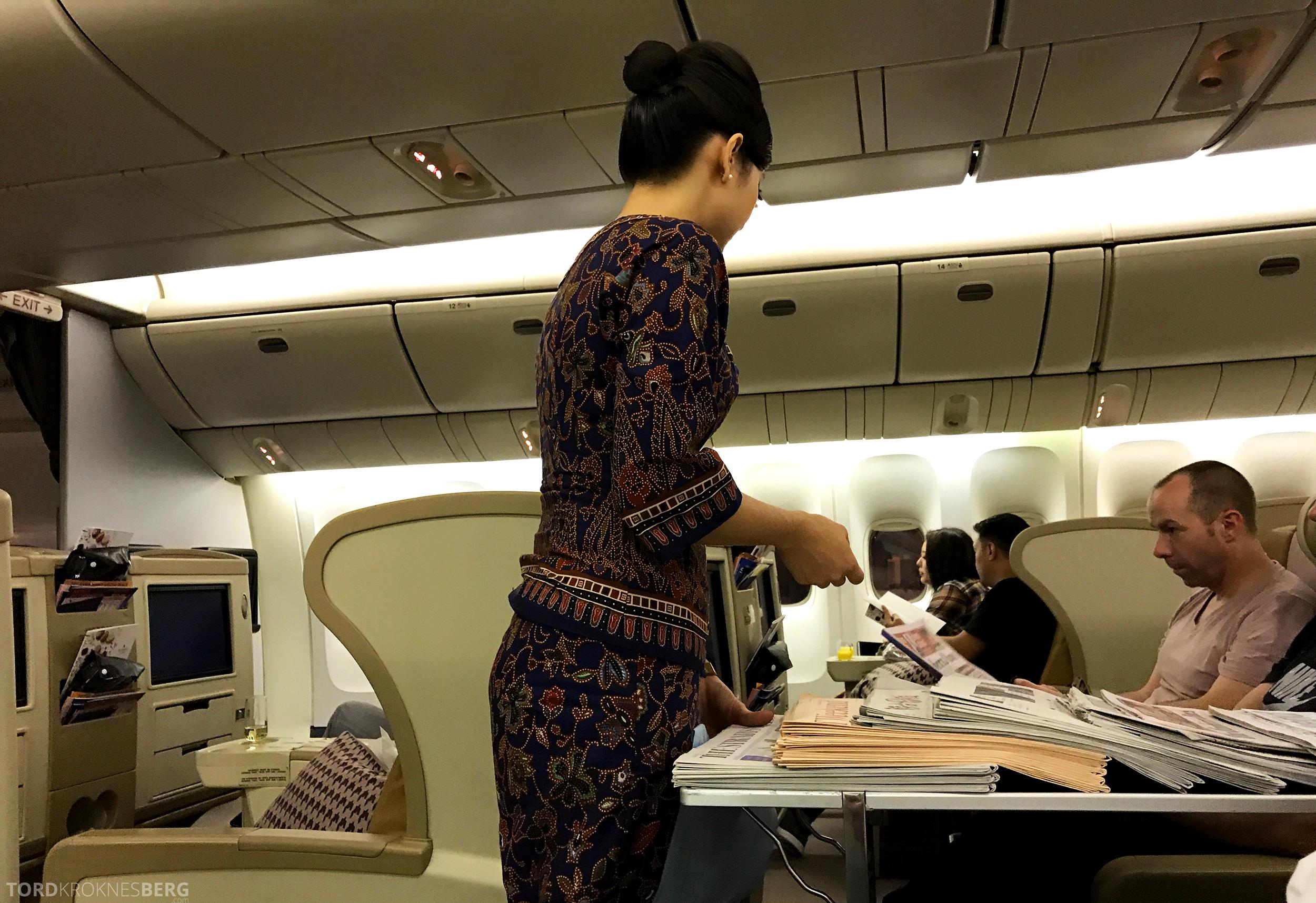 Singapore Airlines Business Class Canberra aviser