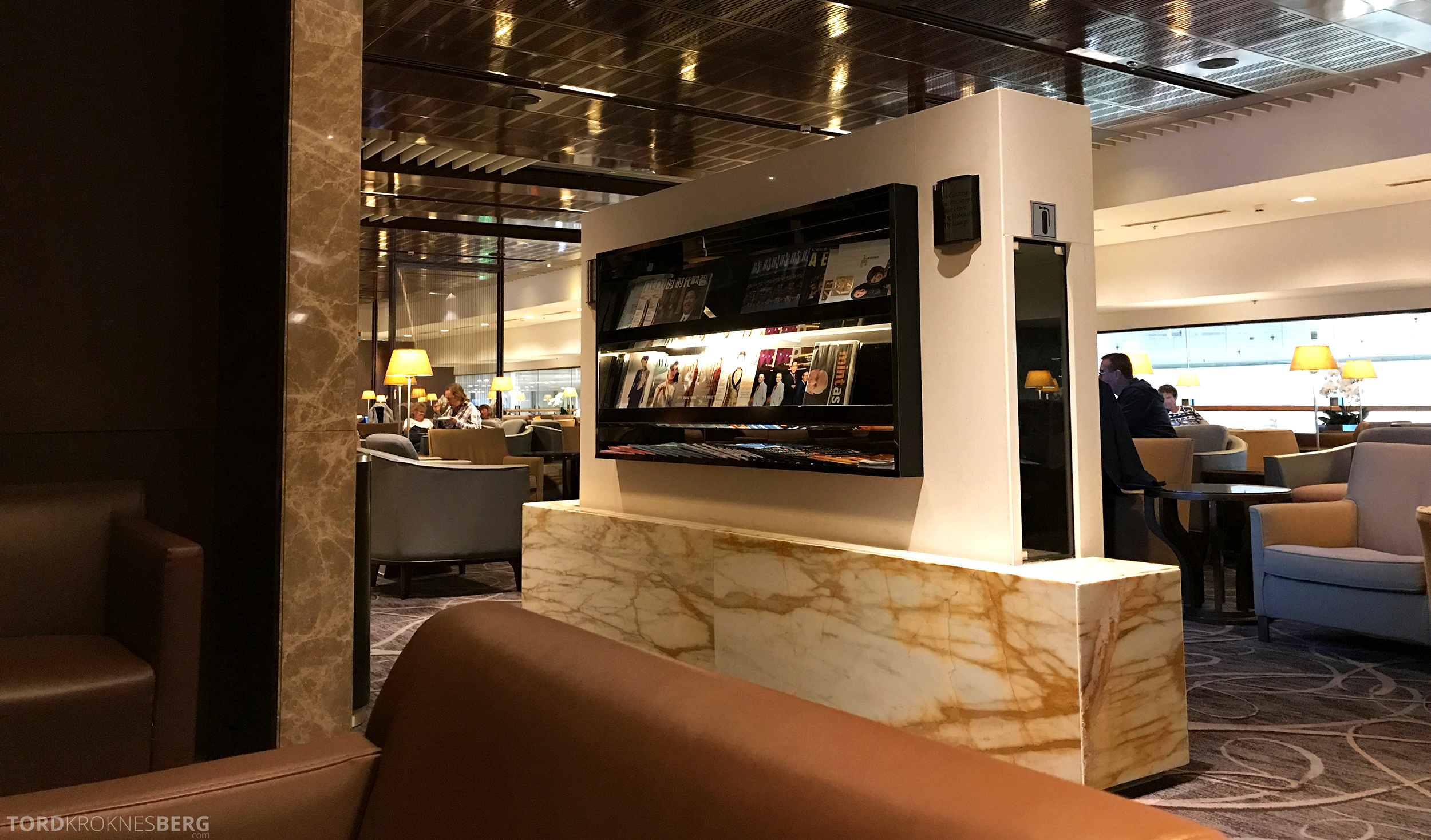 Singapore Airlines SilverKris Lounge interiør