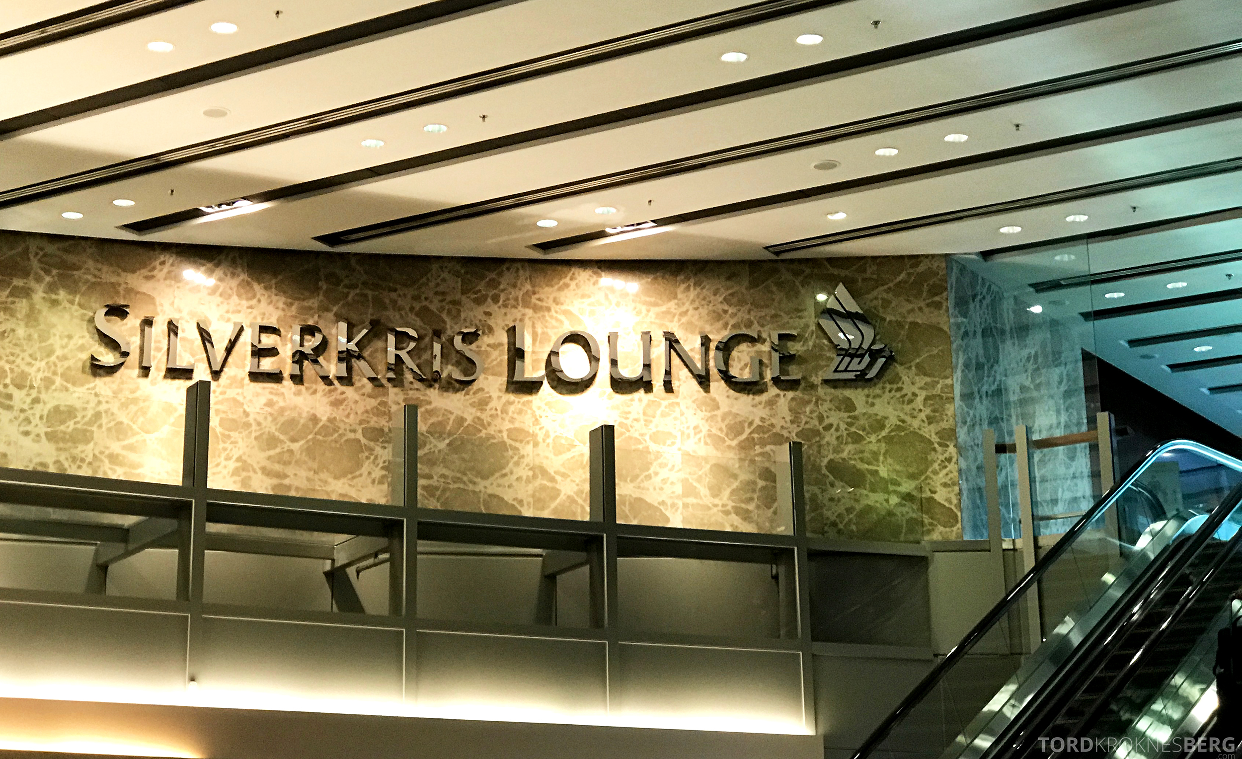 Singapore Airlines SilverKris Lounge inngang