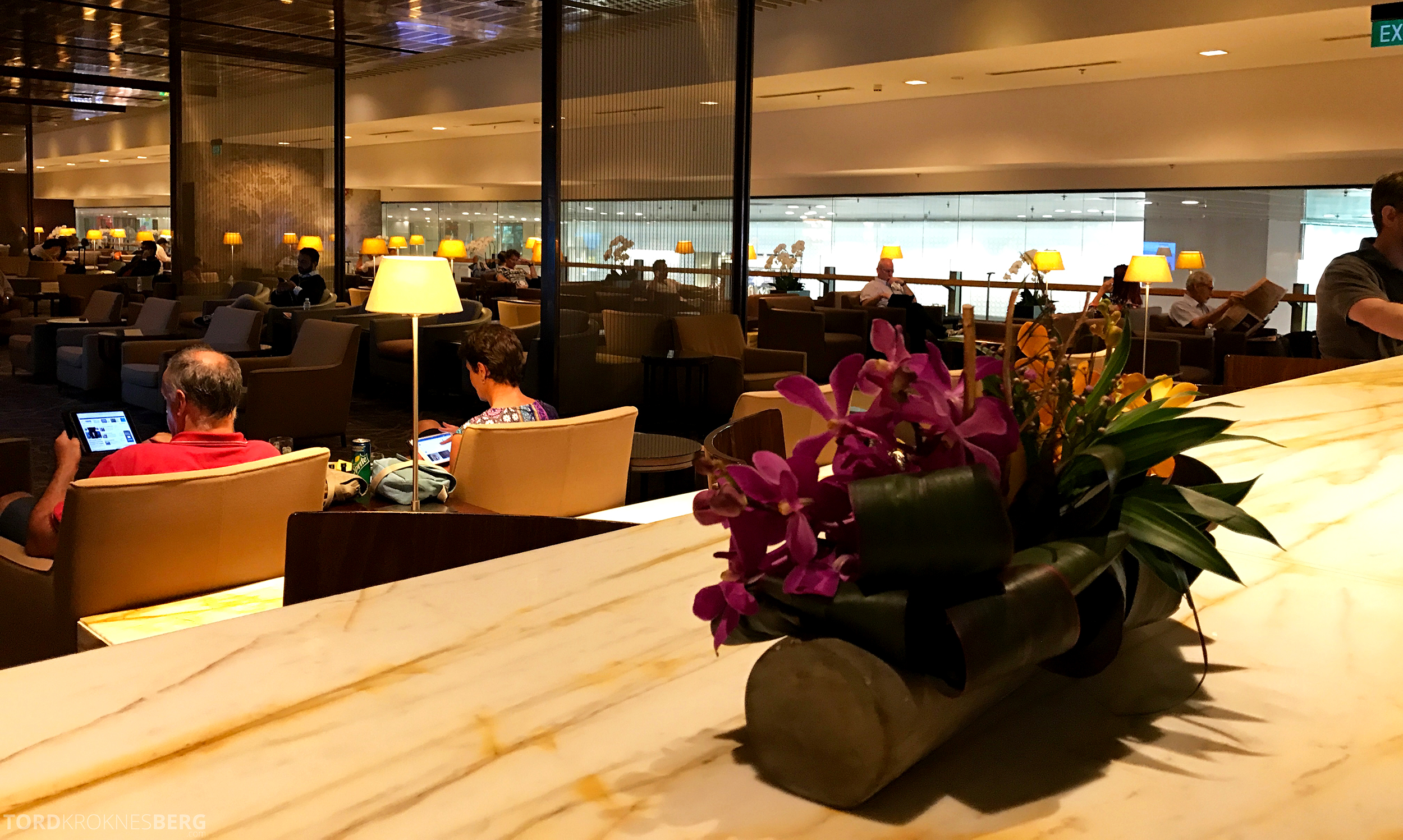 Singapore Airlines SilverKris Lounge detaljer