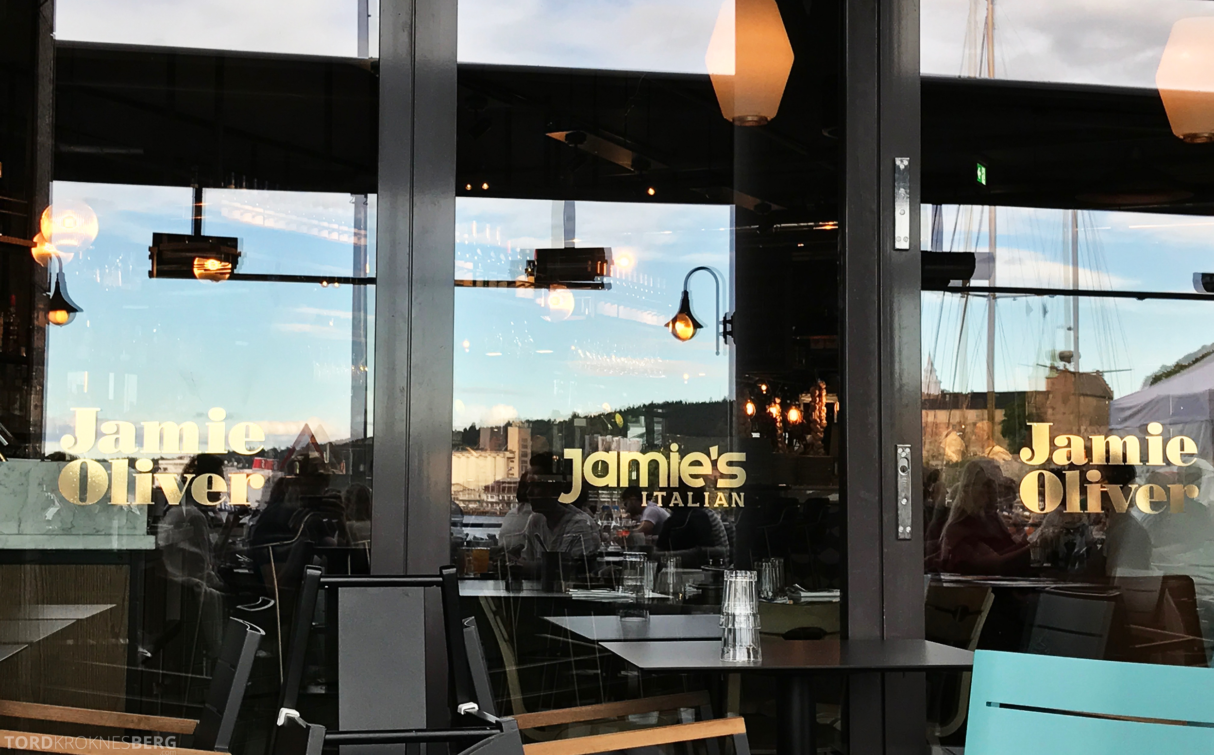Jamie's Italian Aker Brygge Oslo detaljer