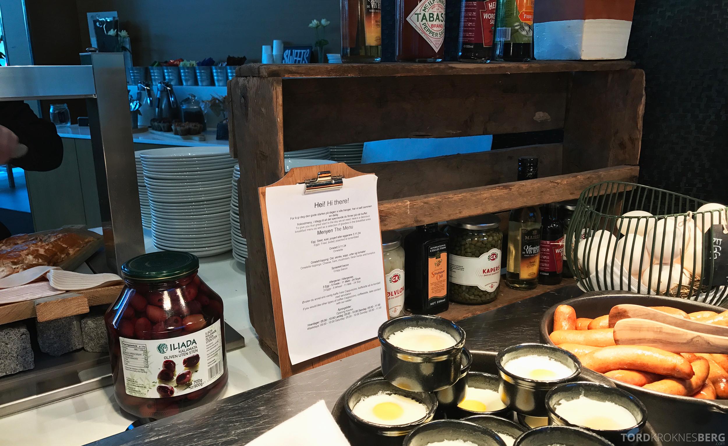 Radisson Blu Airport Værnes frokost meny