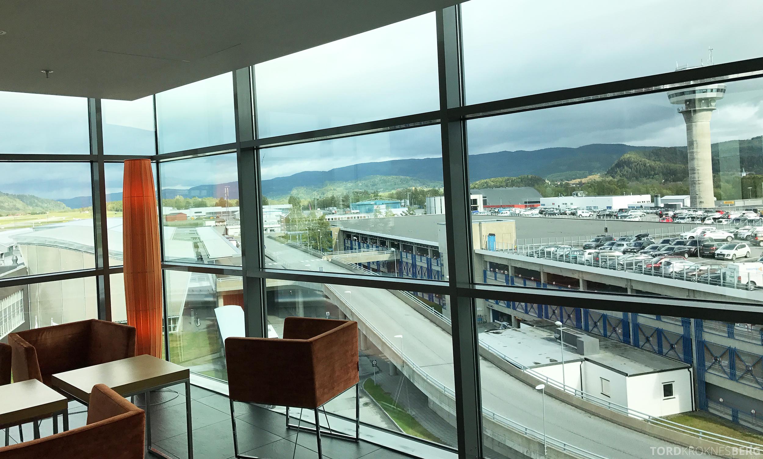 Radisson Blu Airport Værnes utsikt mot tårnet