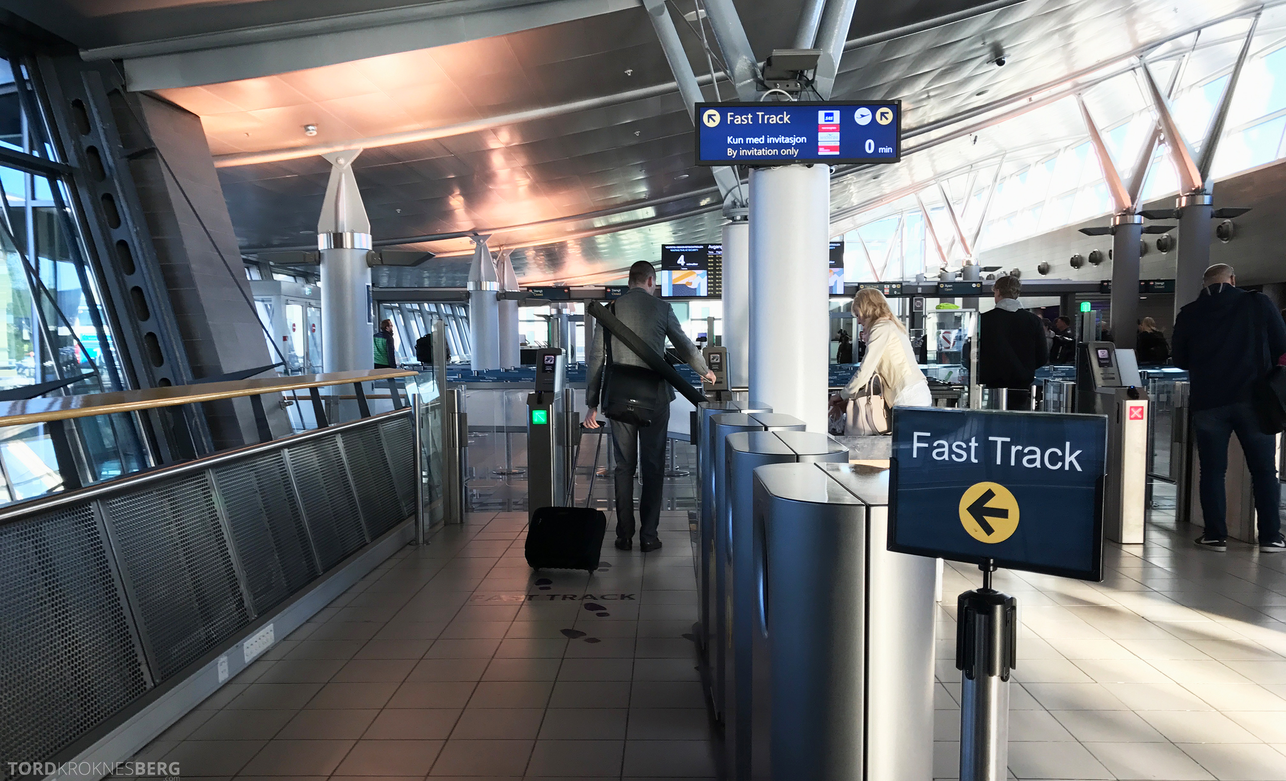 SAS Plus Trondheim Stockholm fast track