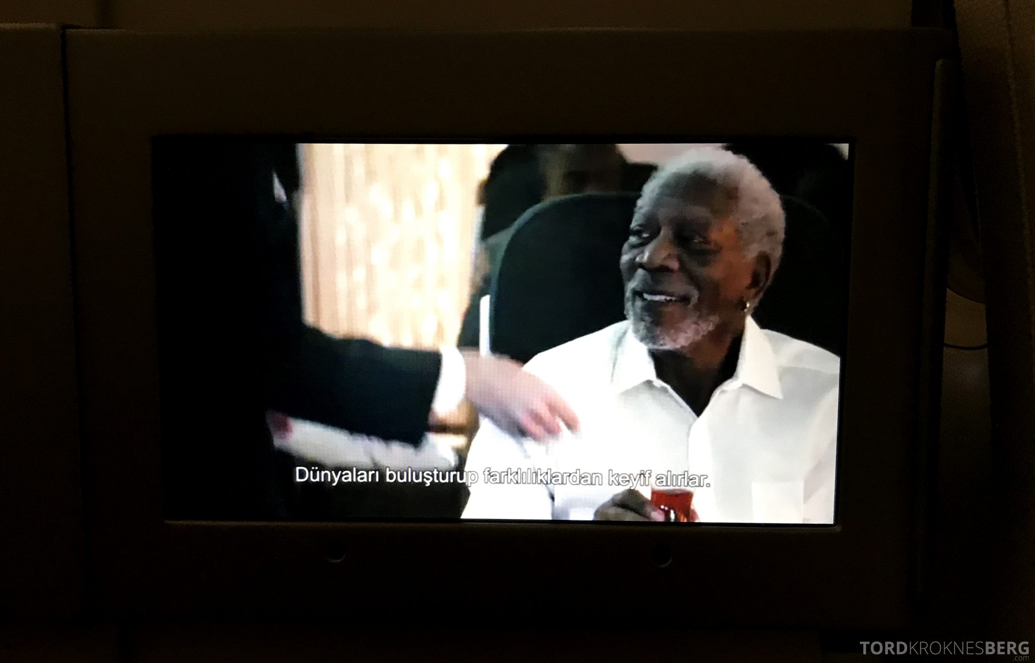 Turkish Airlines Business Class Istanbul Jakarta Morgan Freeman
