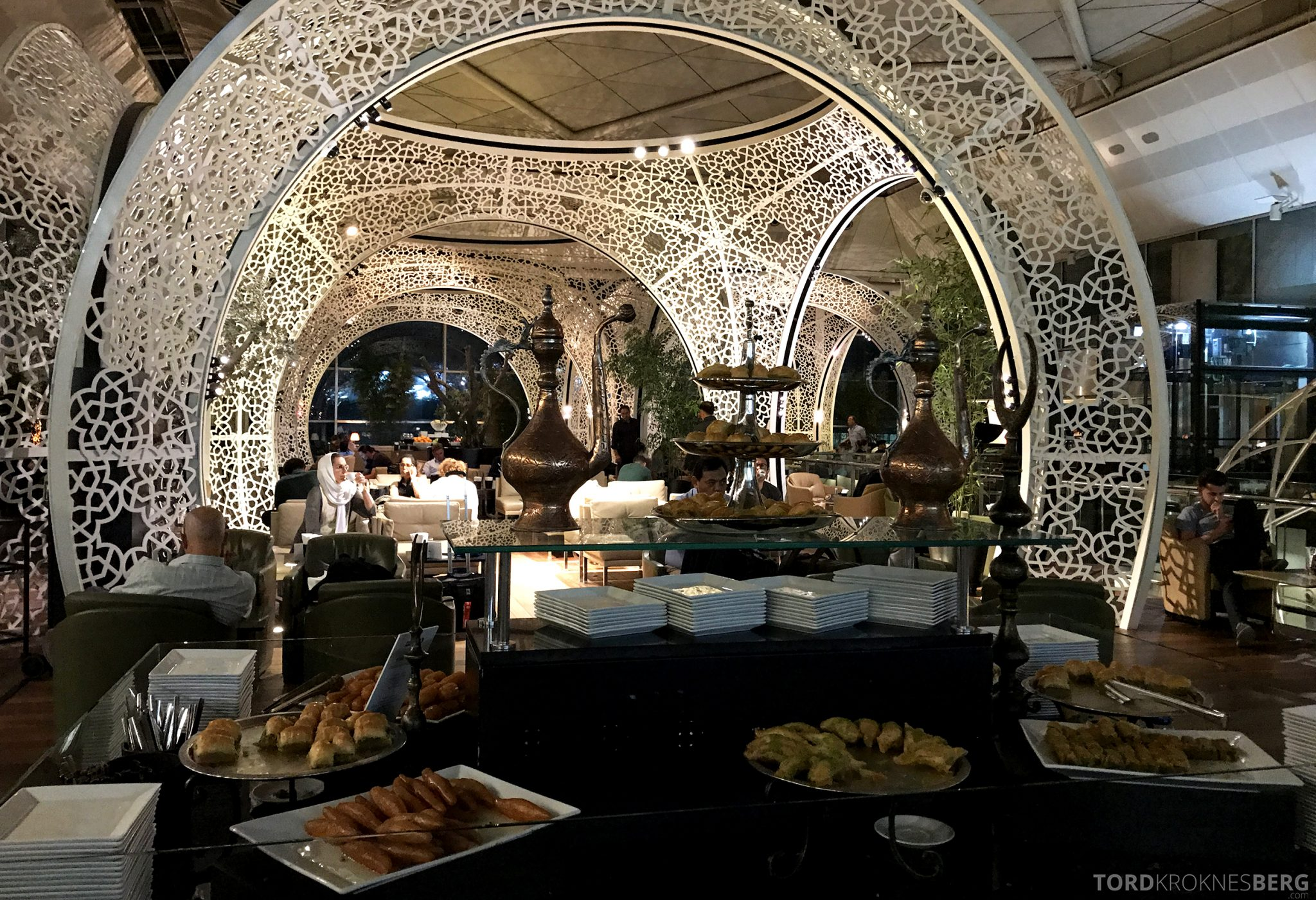 Turkish Airlines CIP Lounge Istanbul buffet