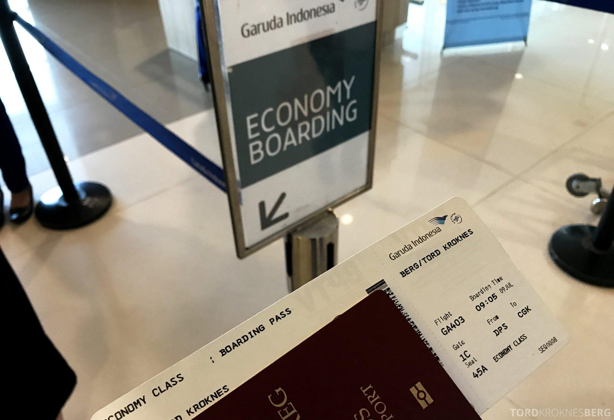 Garuda Indonesia Economy Bali Jakarta boarding