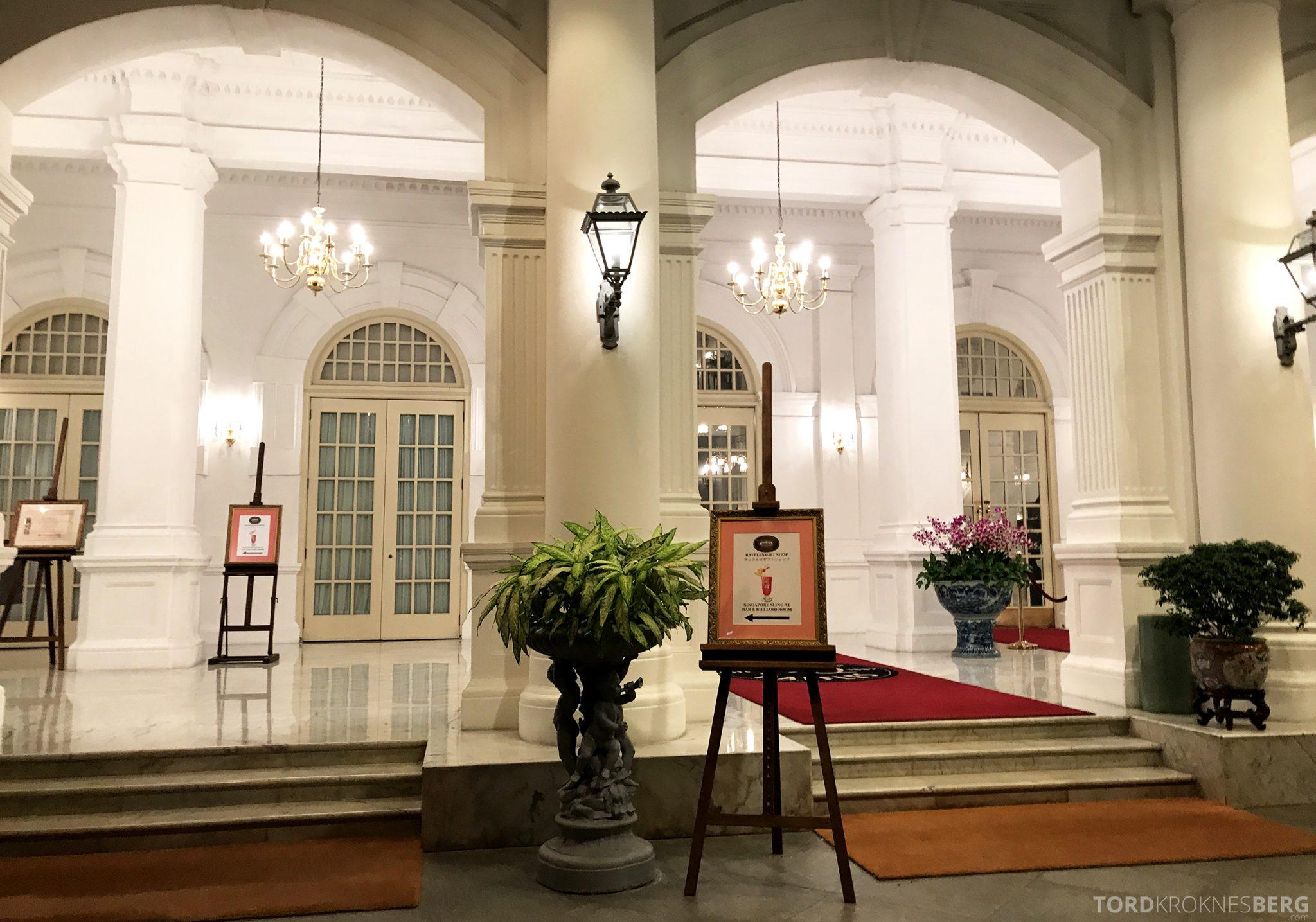 Raffles Hotel Singapore inngang
