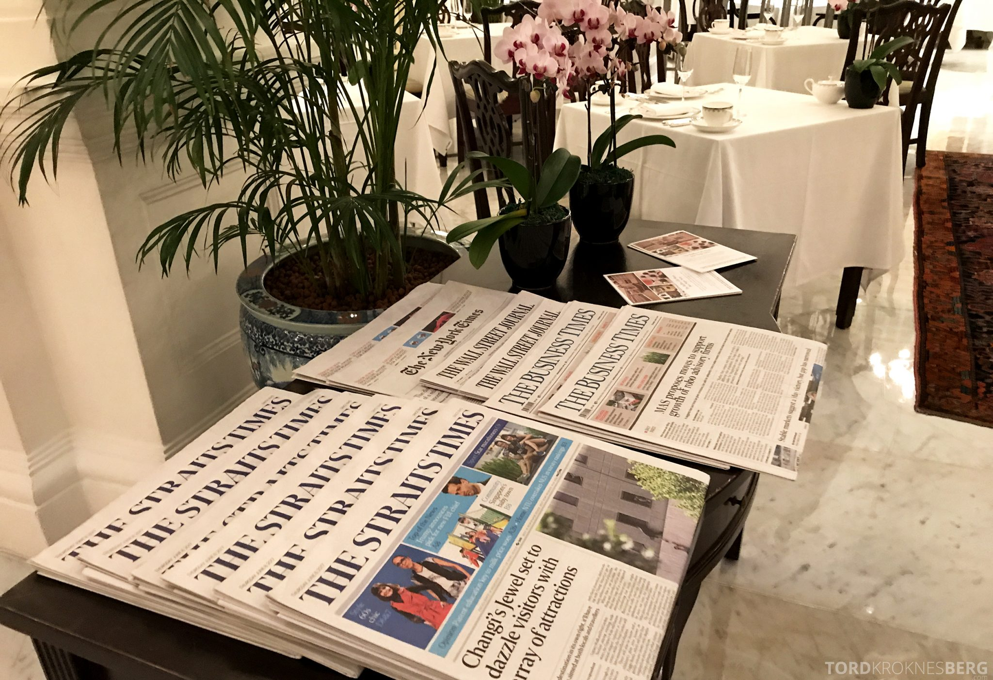 Raffles Hotel Singapore aviser