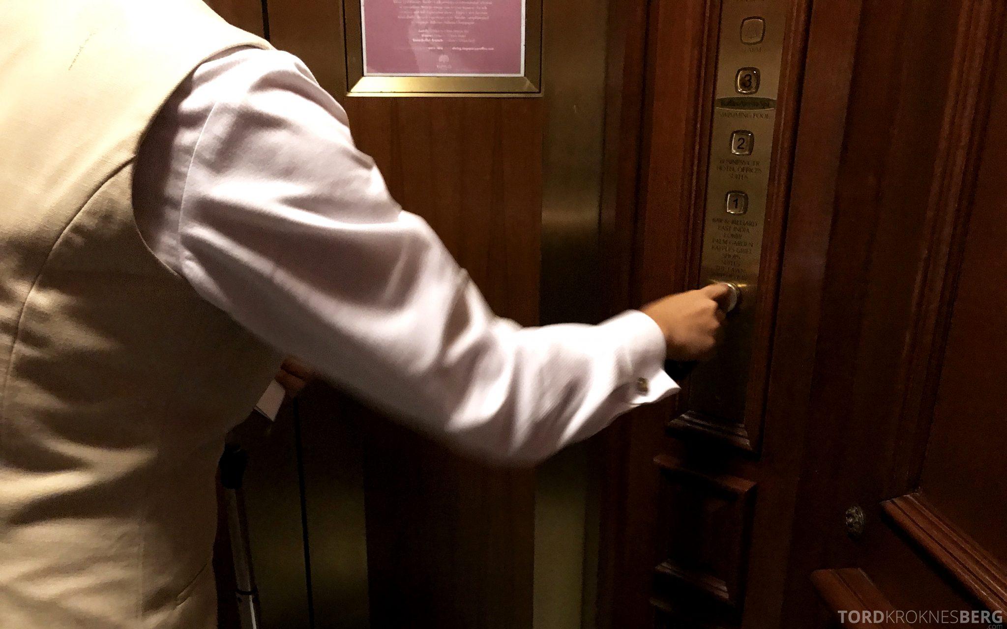 Raffles Hotel Singapore butler