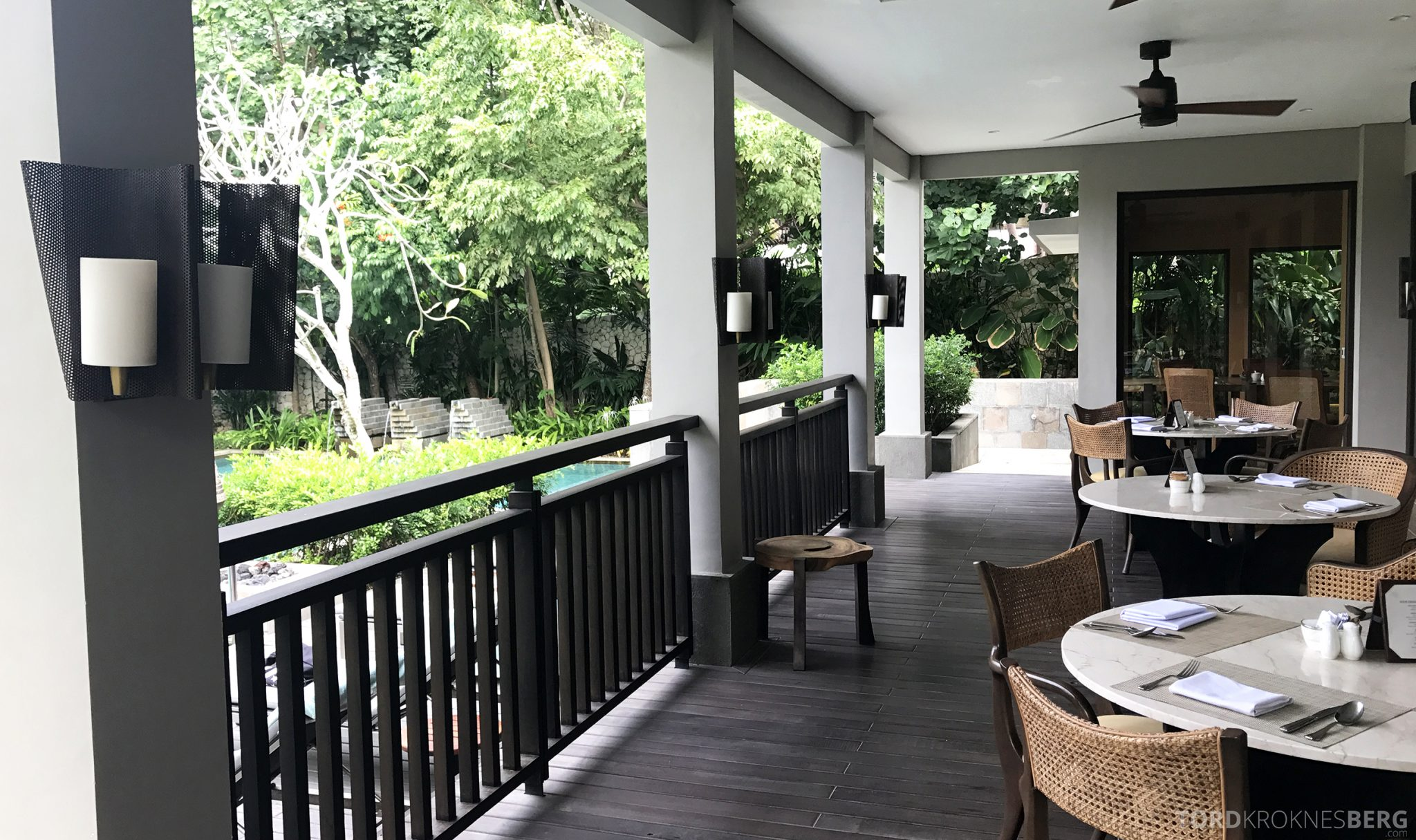 Ritz-Carlton Bali Club Lounge terrasse