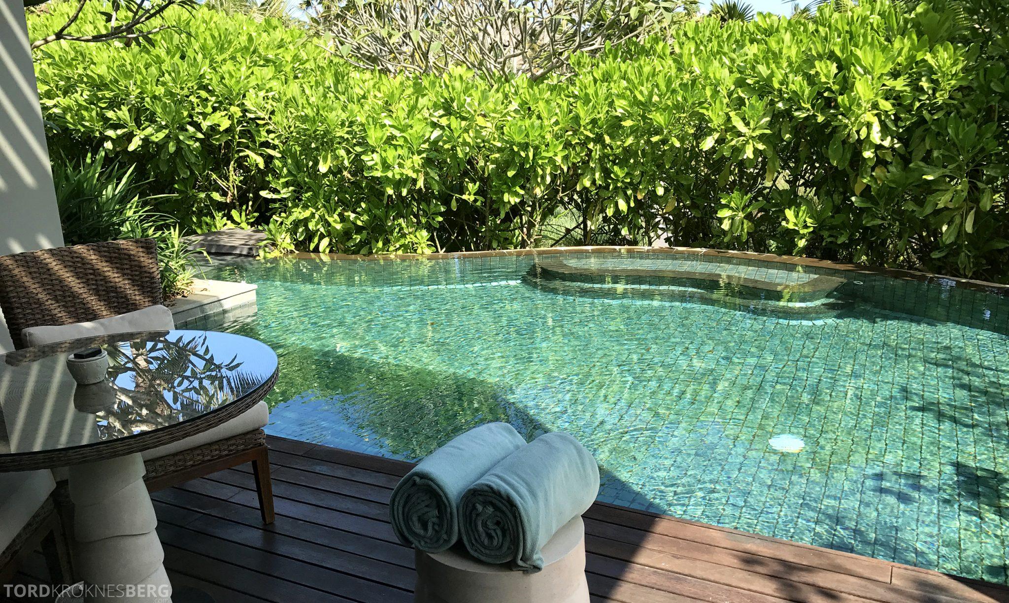 Ritz-Carlton Bali pavilion suite basseng