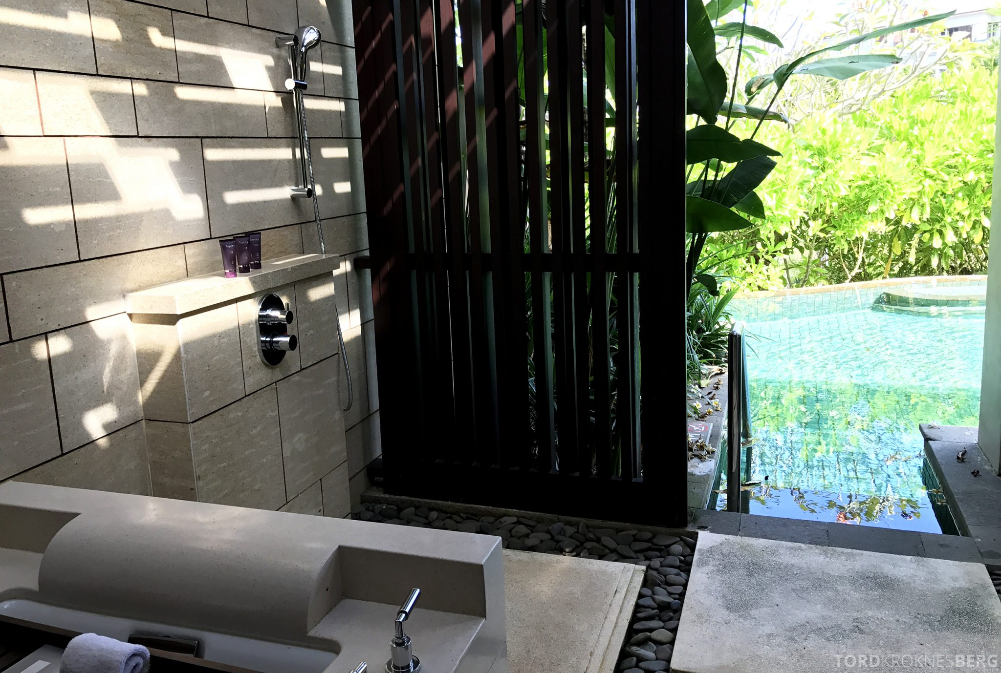 Ritz-Carlton Bali pavilion suite bad