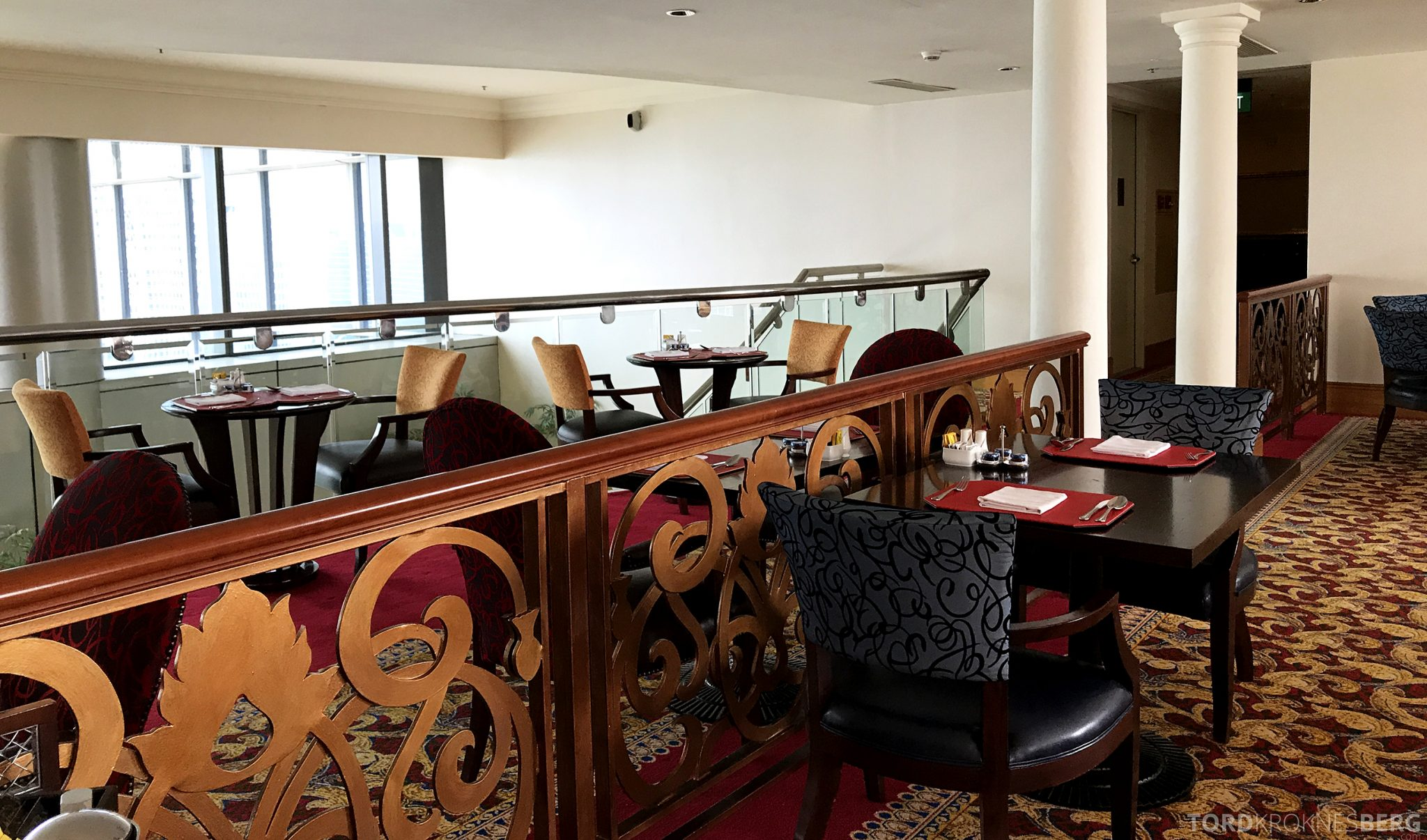 Ritz-Carlton Jakarta Club Lounge detaljer