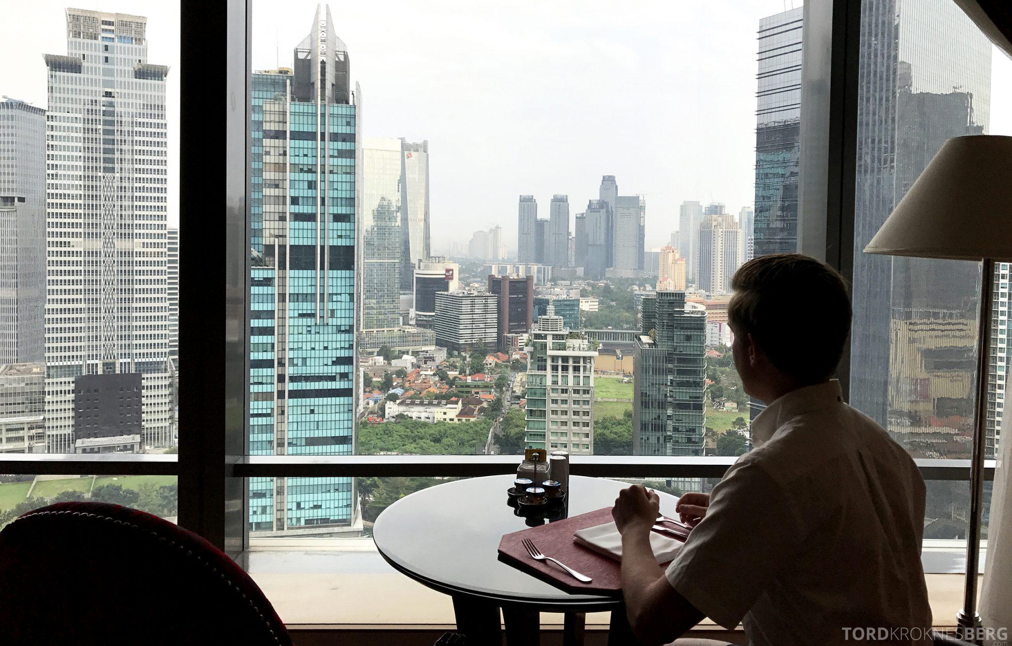 Ritz-Carlton Jakarta Club Lounge utsikt