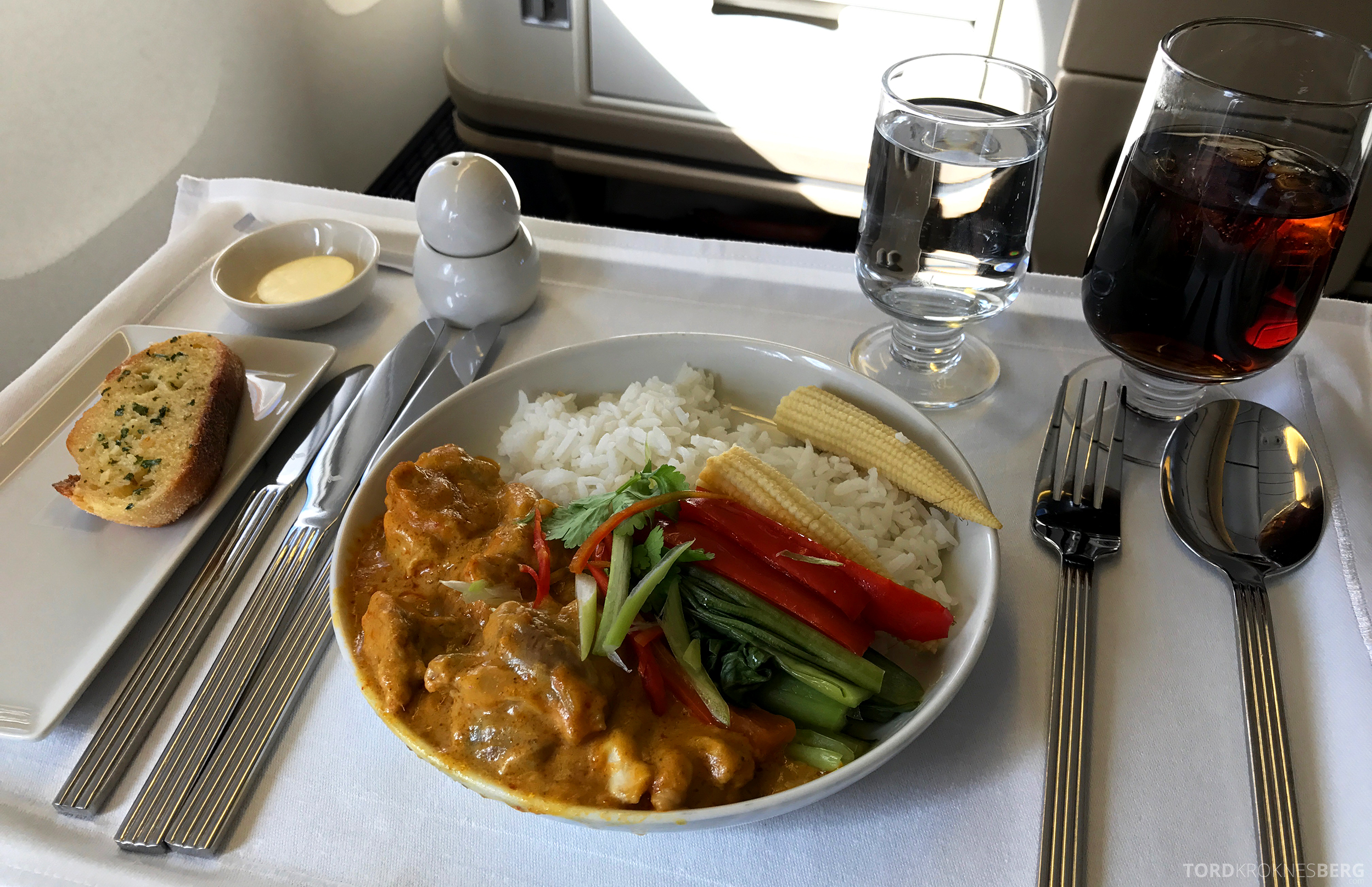 Singapore Airlines Business Class Canberra Wellington hovedrett