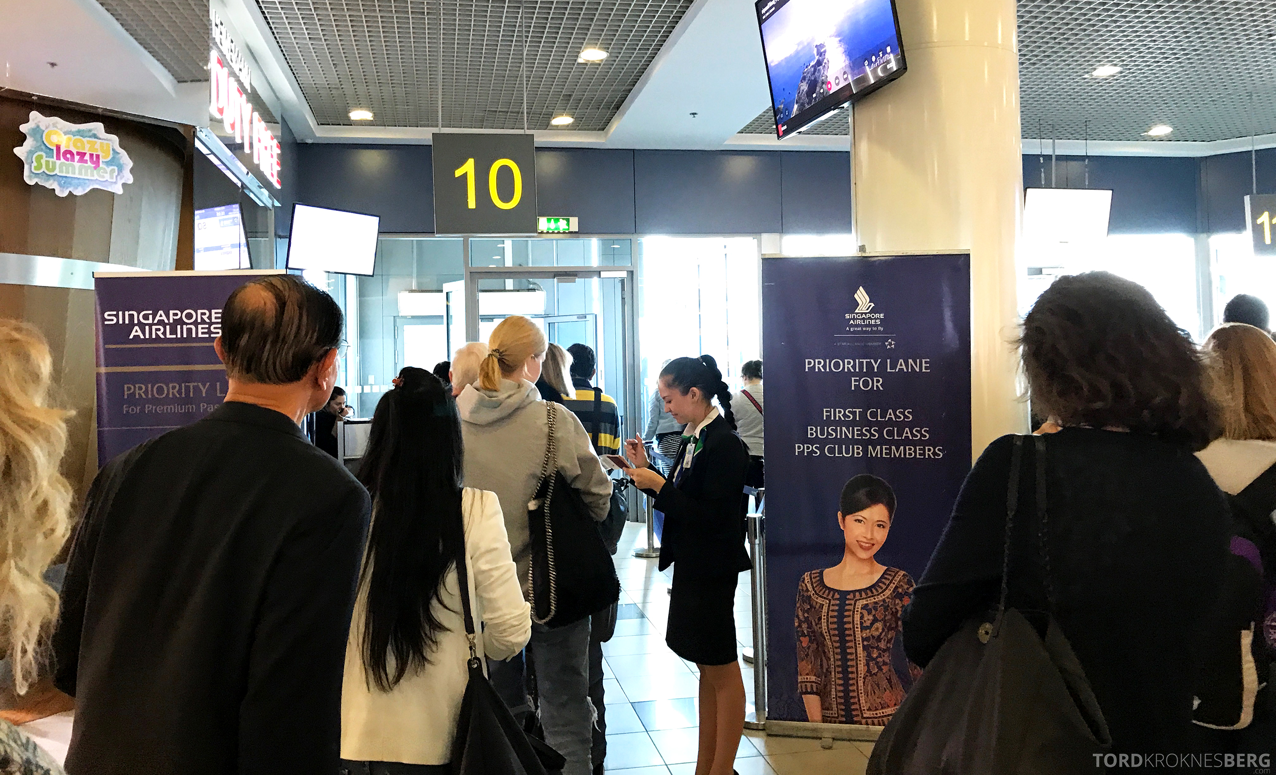 Singapore Airlines Business Class Moskva Singapore boarding