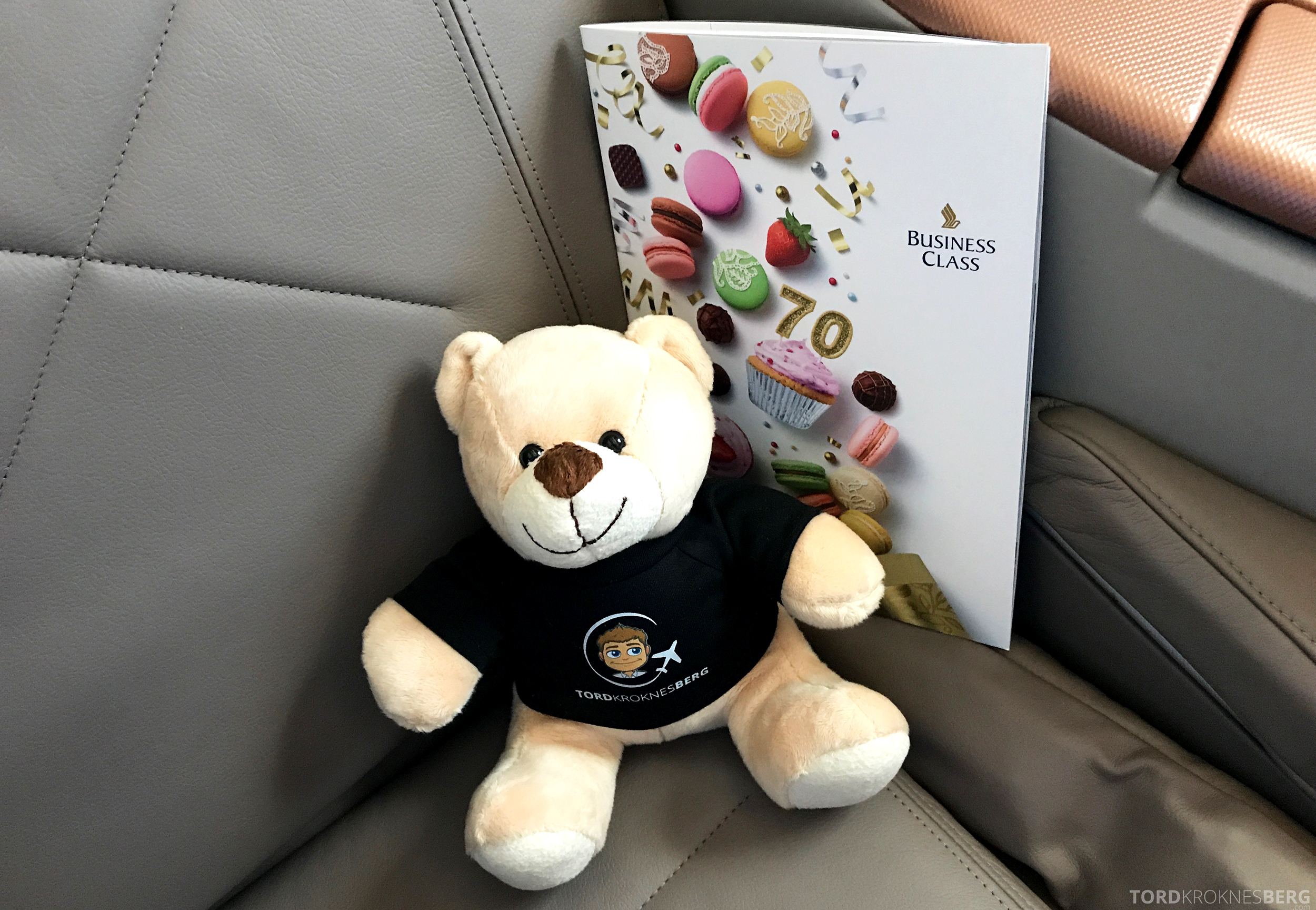Singapore Airlines Business Class Moskva Singapore reisefølget meny