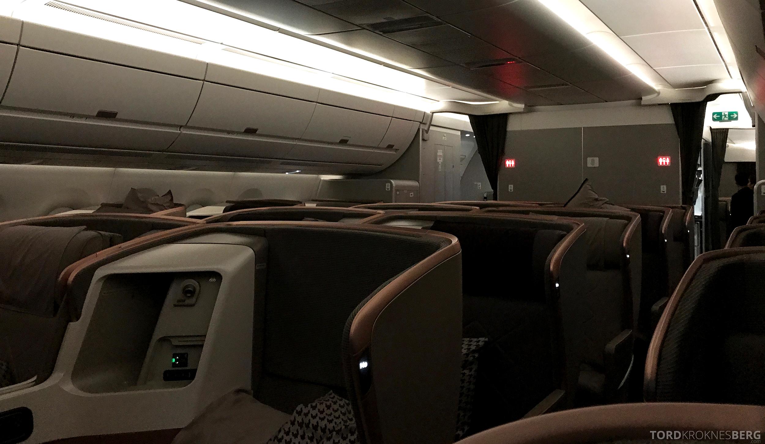 Singapore Airlines Business Class Moskva Singapore leggetid