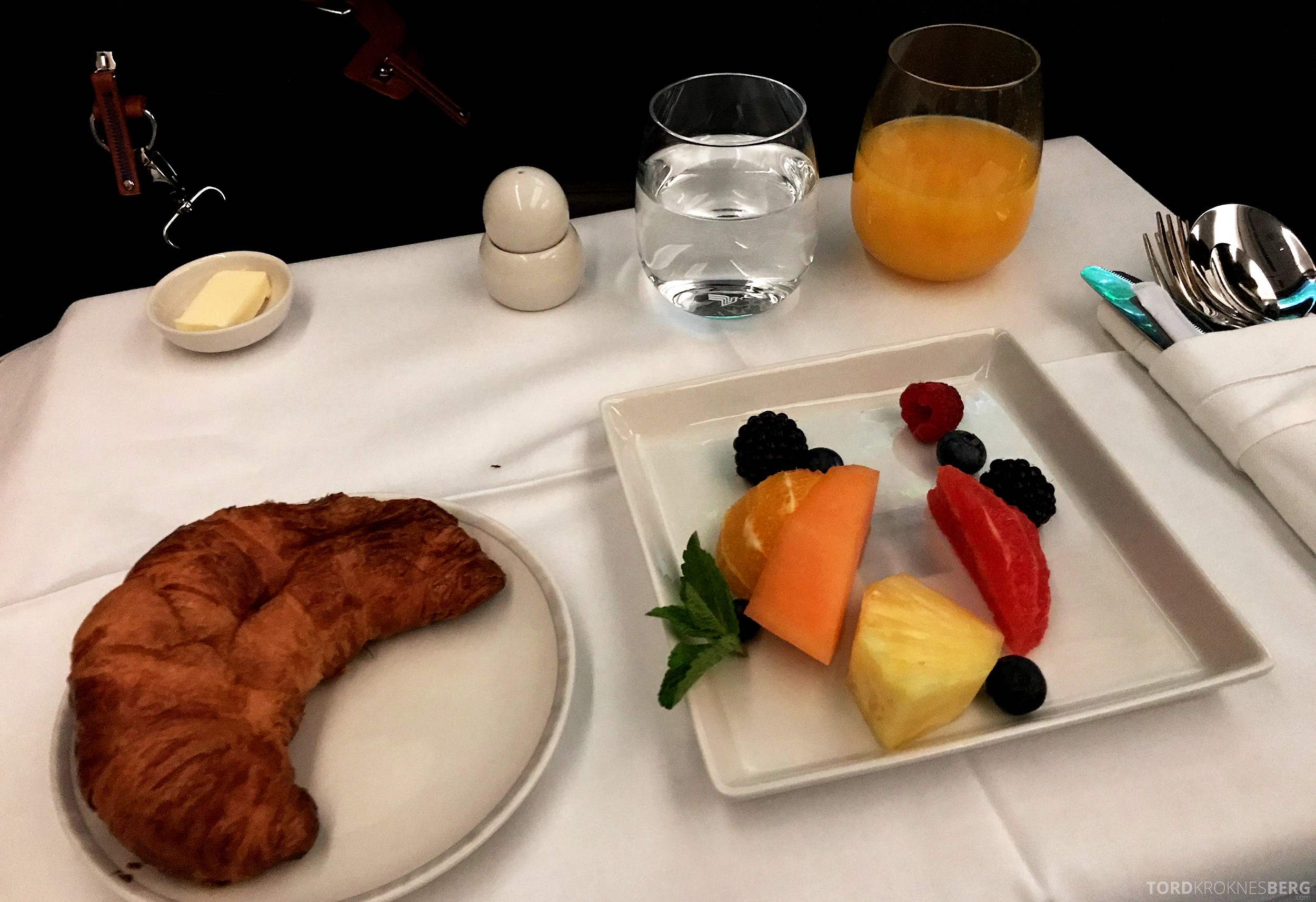 Singapore Airlines Business Class Moskva Singapore frokost