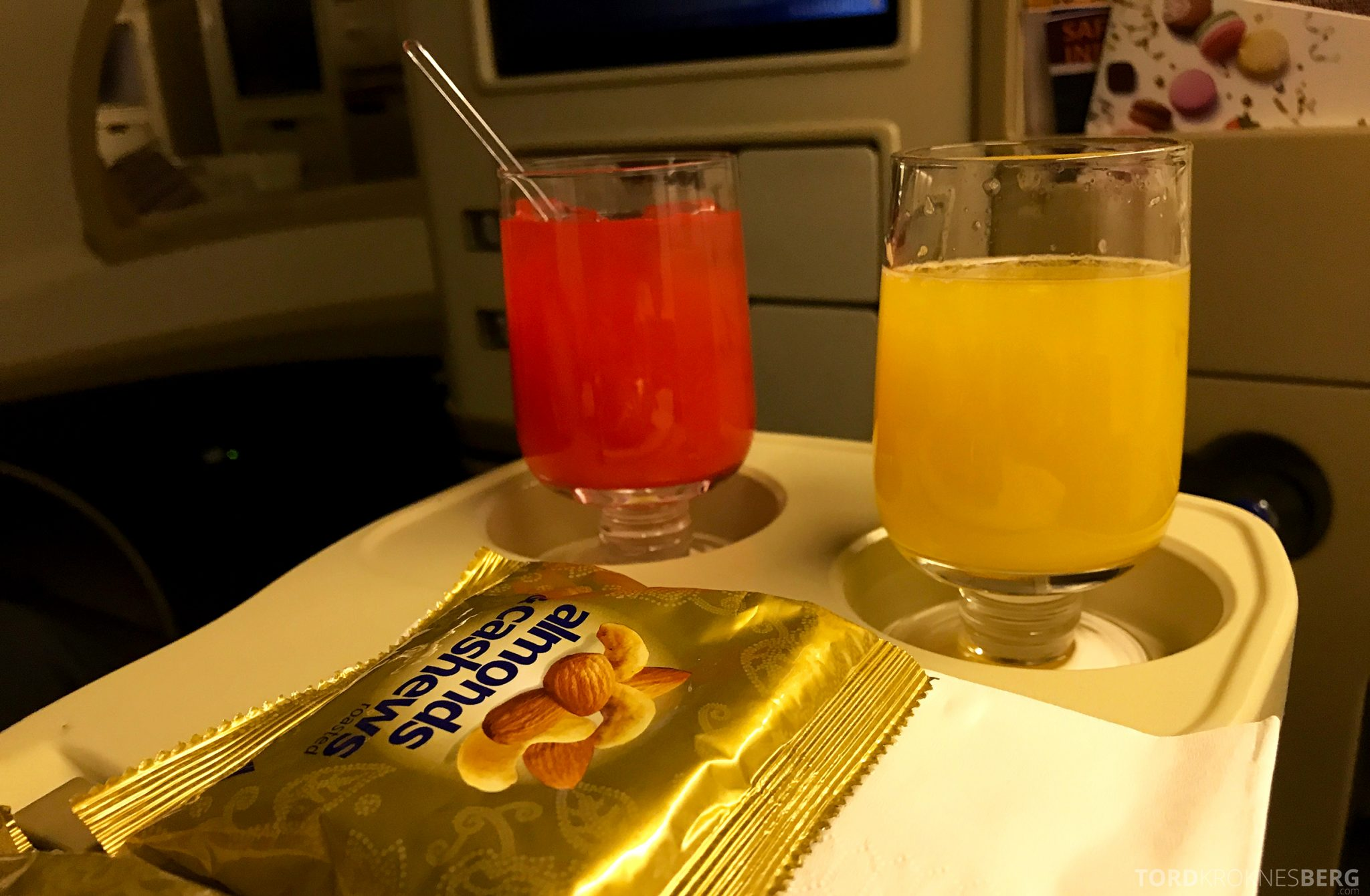 Singapore Airlines Business Class Wellington Canberra Changi aperitiff