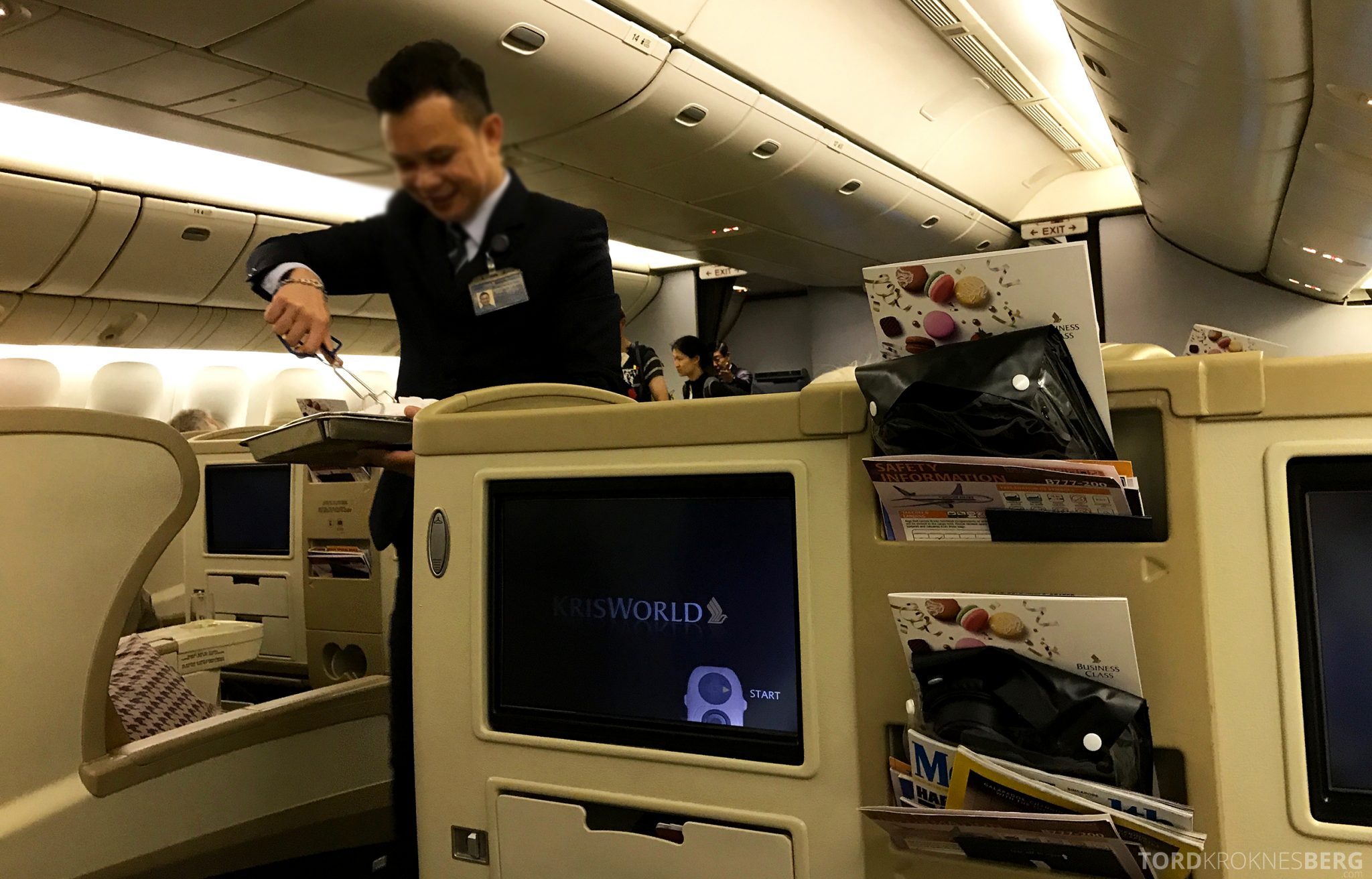 Singapore Airlines Business Class Wellington Canberra Changi varm klut