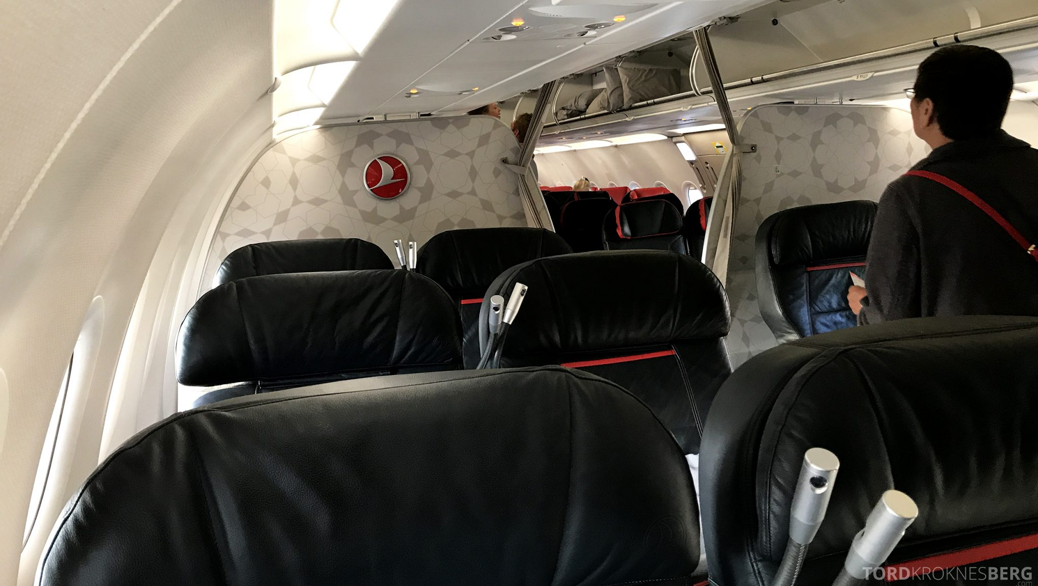 Turkish Airlines Business Class Istanbul Oslo kabin