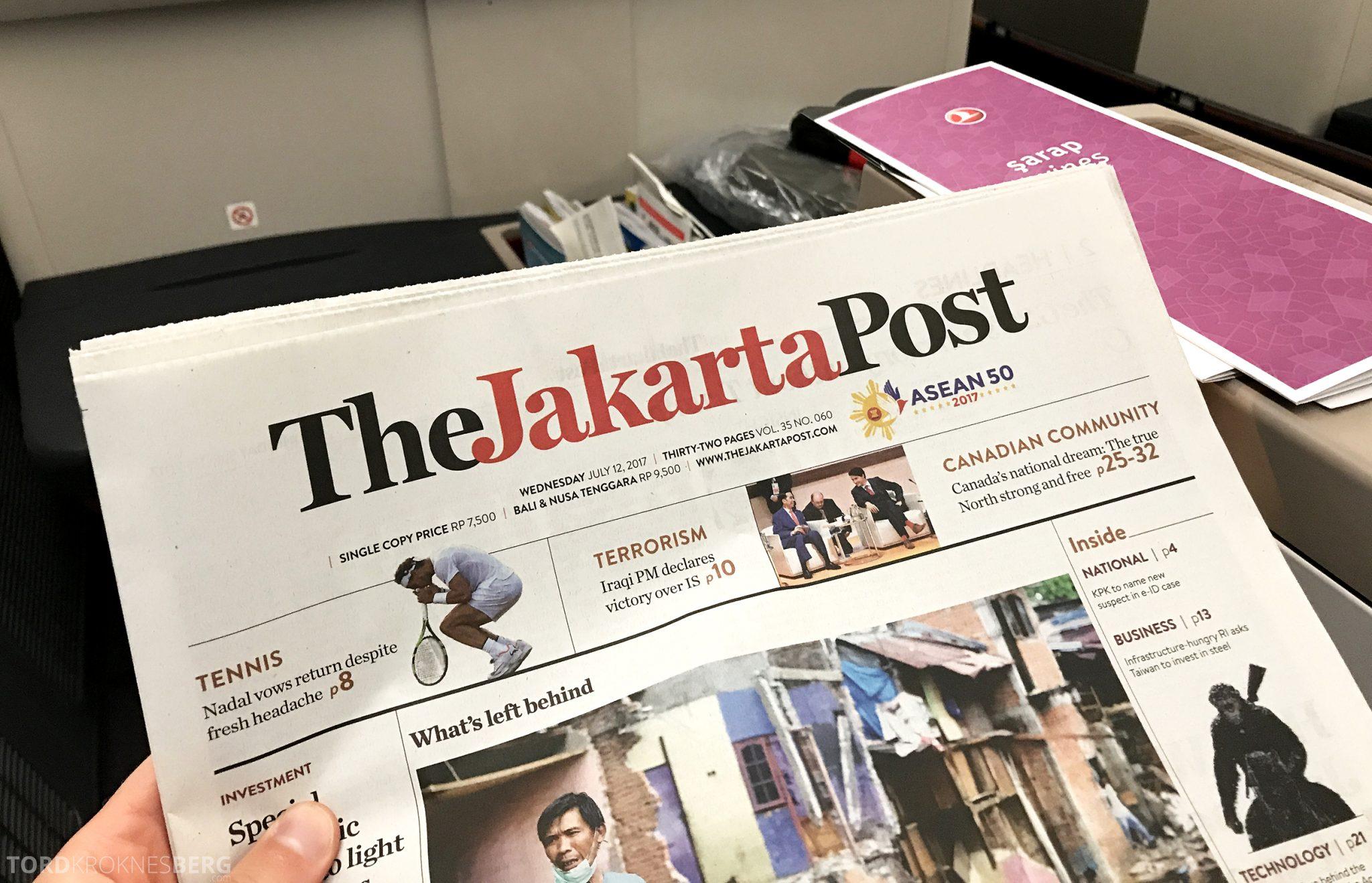 Turkish Airlines Business Class Jakarta Istanbul lokal avis