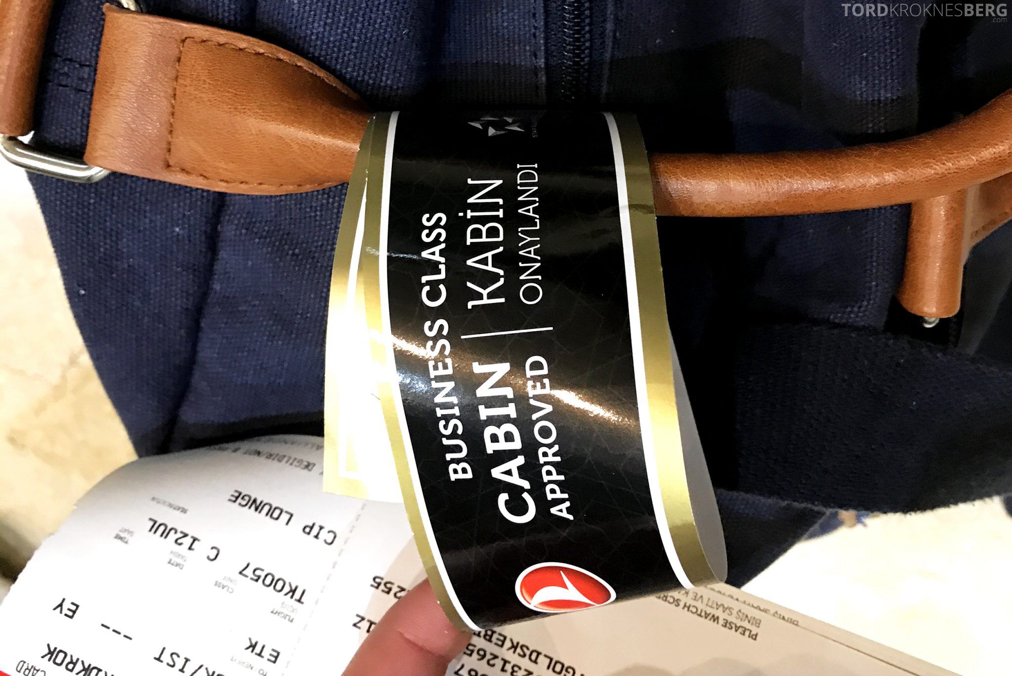 Turkish Airlines Business Class Jakarta Istanbul håndbagasje