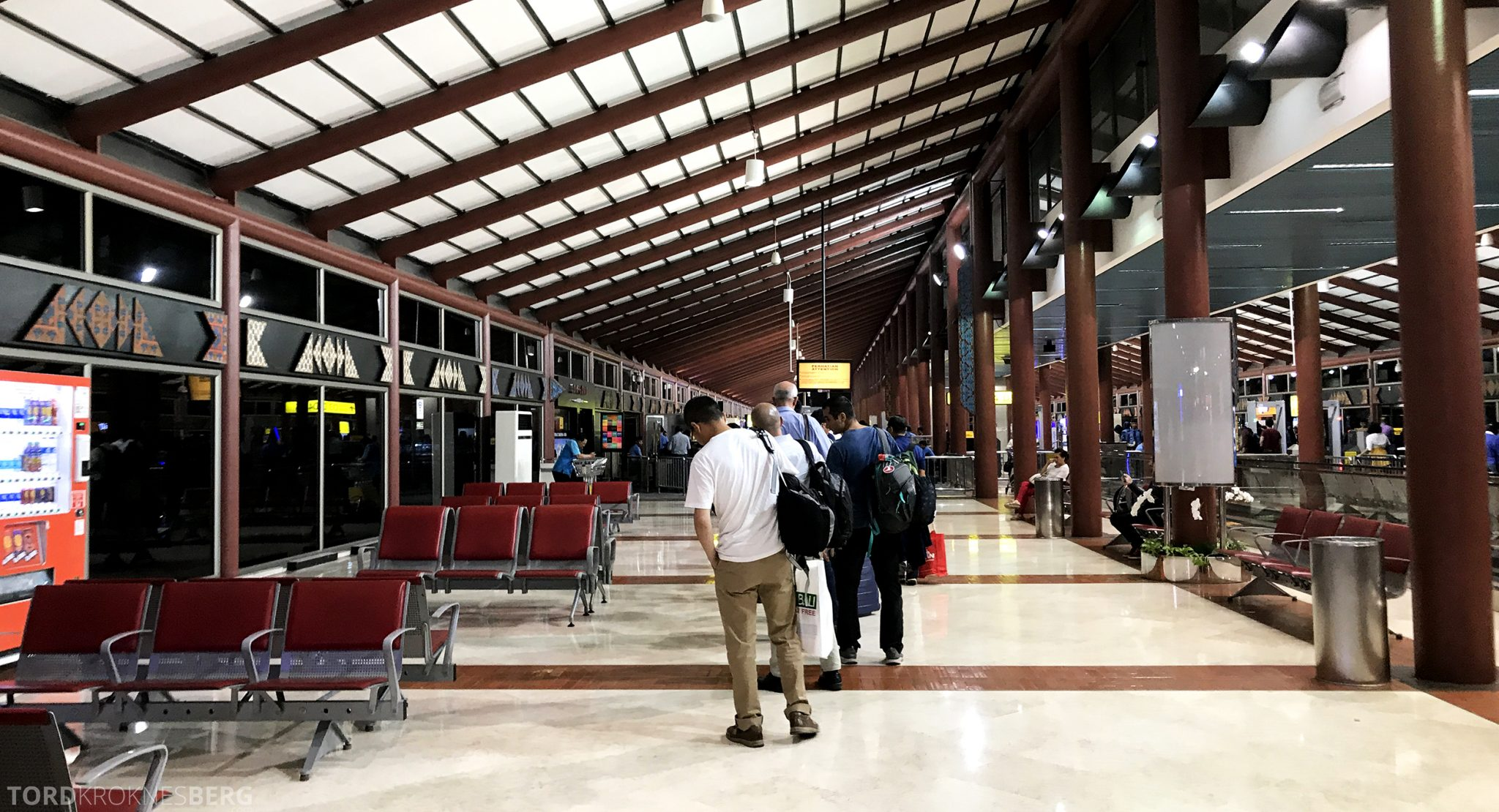 Turkish Airlines Business Class Jakarta Istanbul sikkerhetskontroll