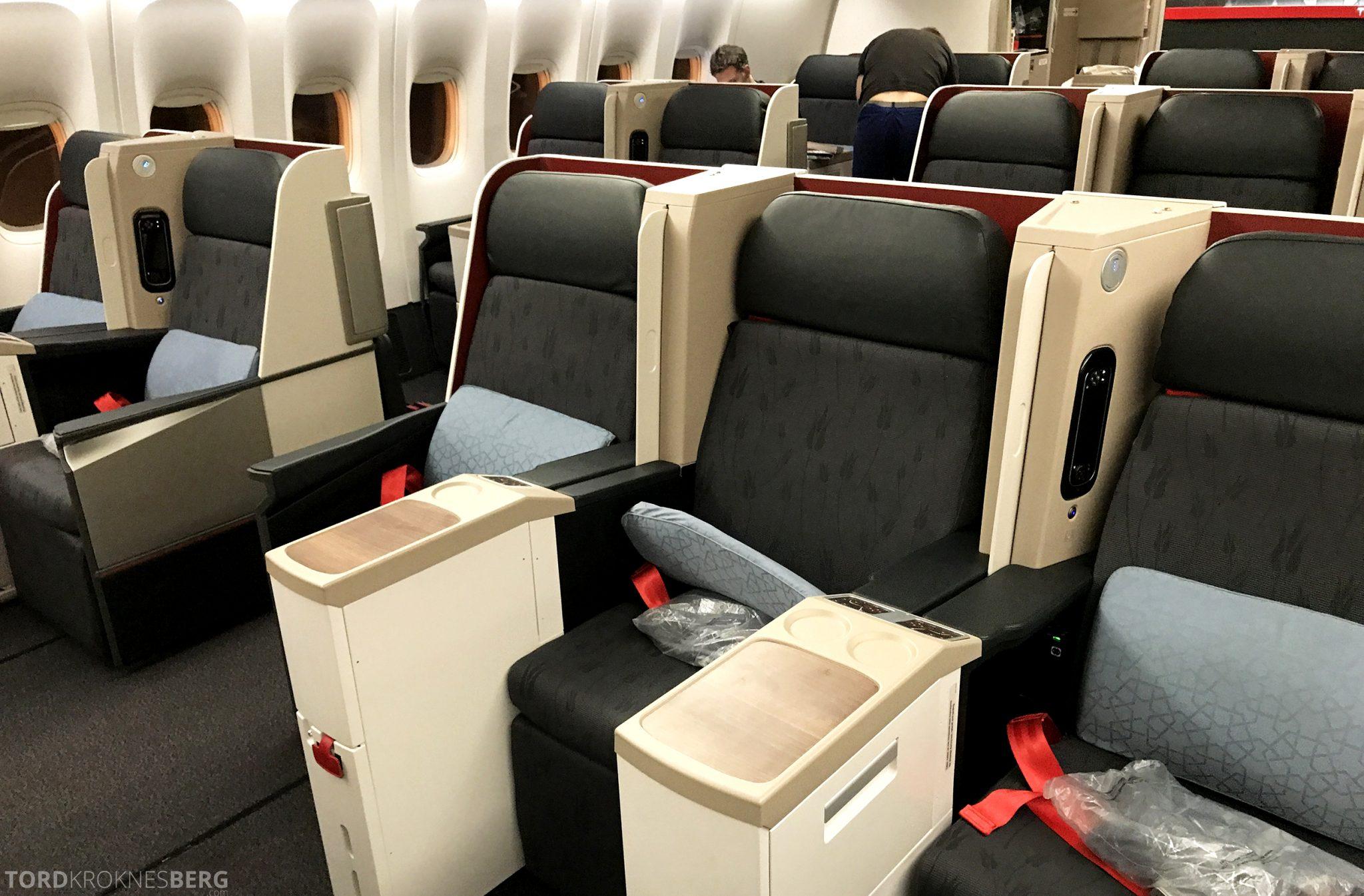 Turkish Airlines Business Class Jakarta Istanbul seter