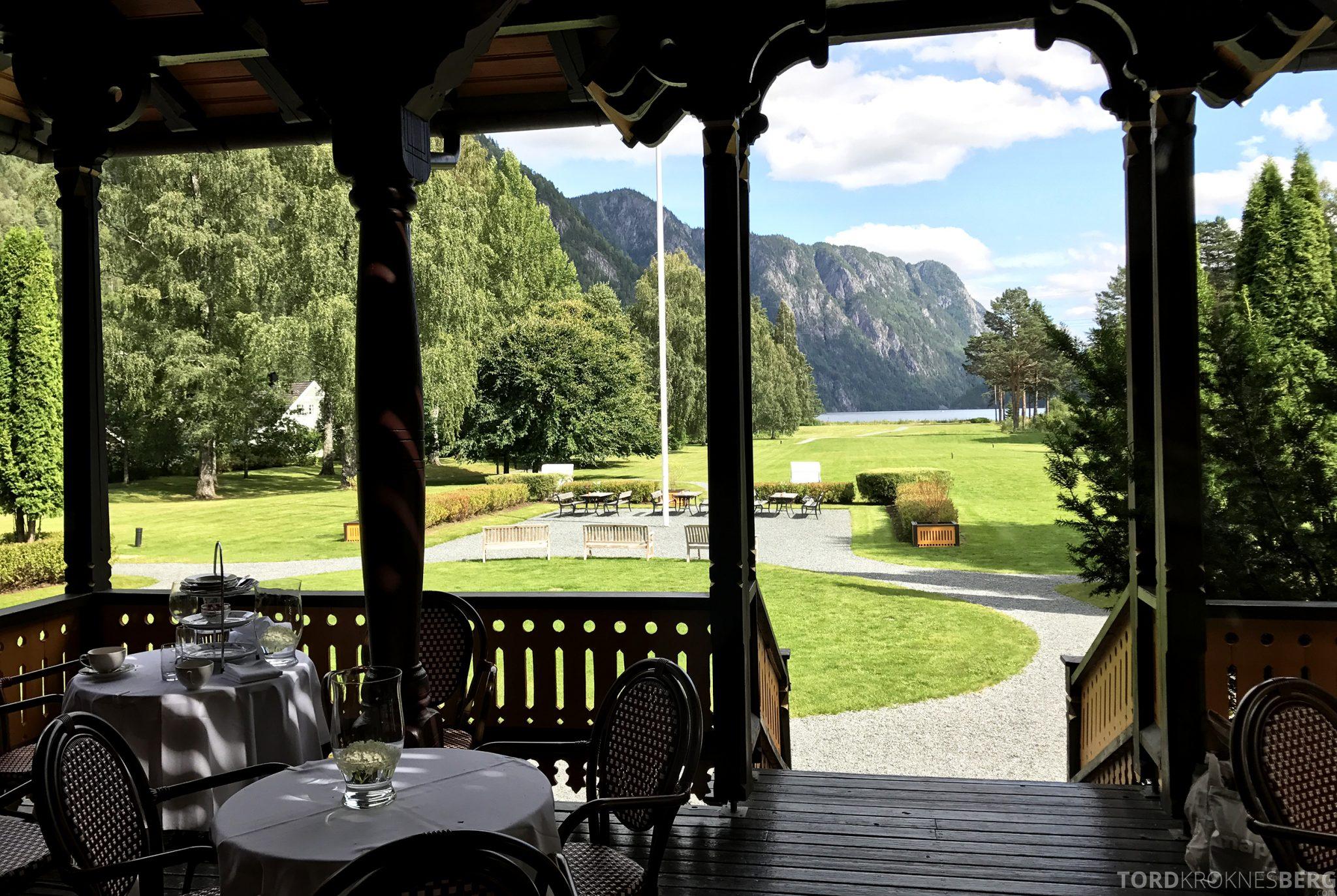 Dalen Hotel Telemark spiseplasser ute