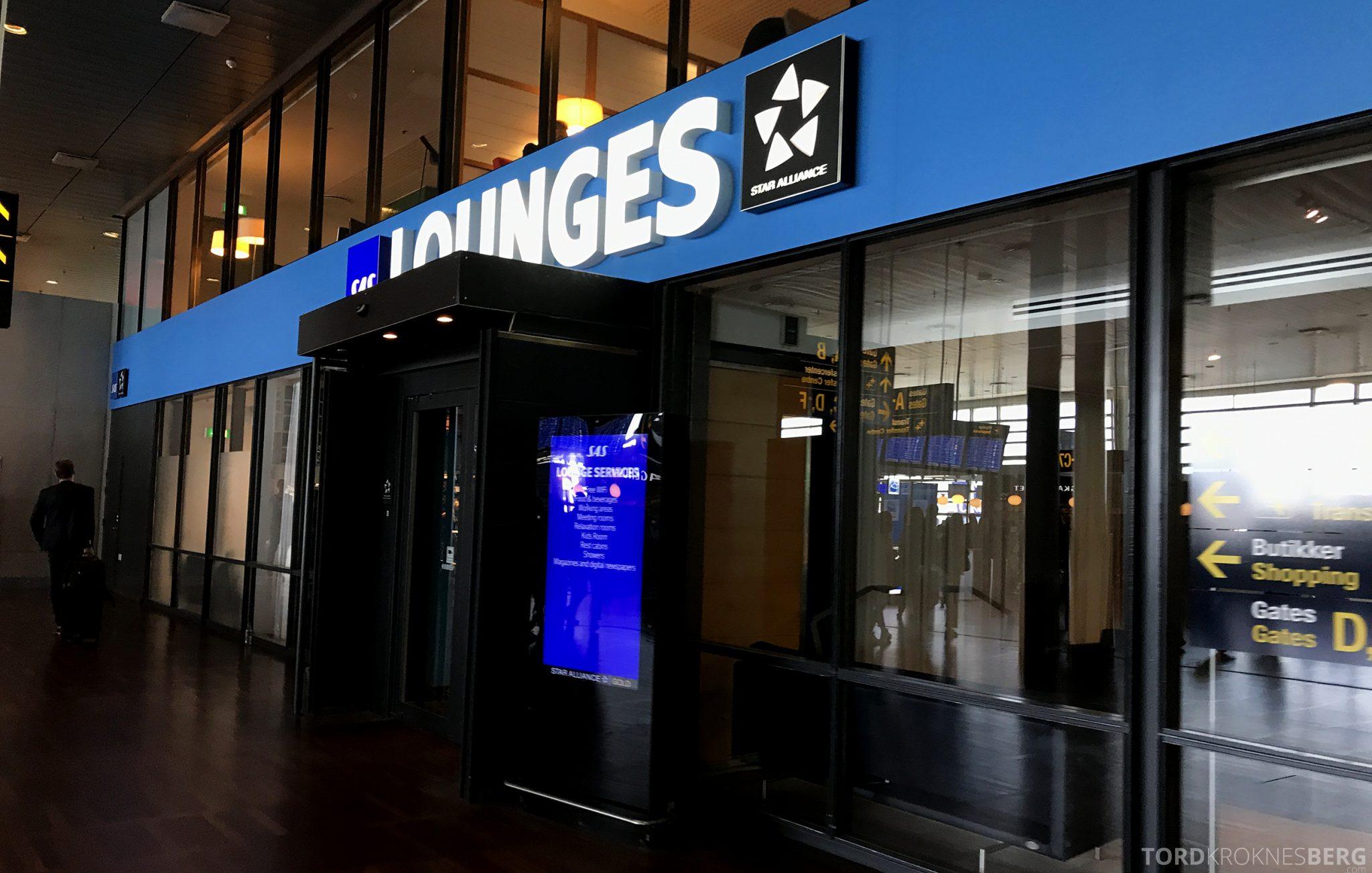 SAS Plus Oslo San Francisco København lounge