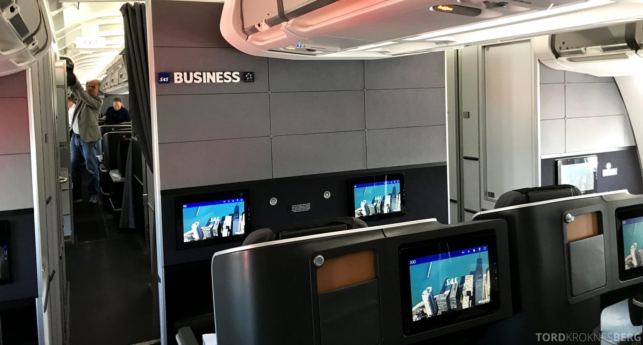 SAS Plus Oslo San Francisco business class