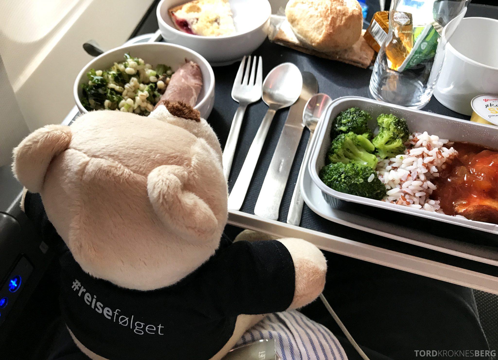 SAS Plus Oslo San Francisco reisefølget mat