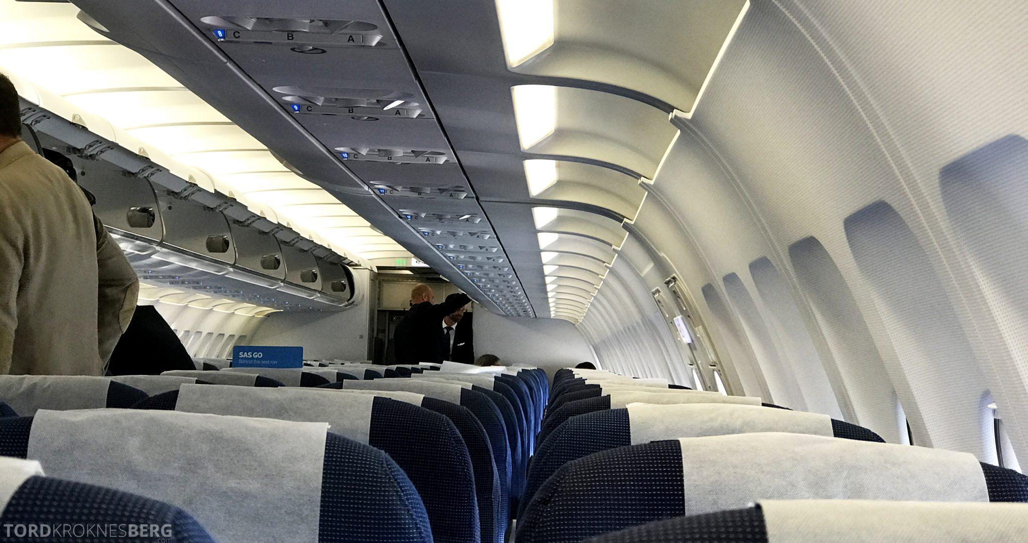 SAS Plus Oslo San Francisco København kabin