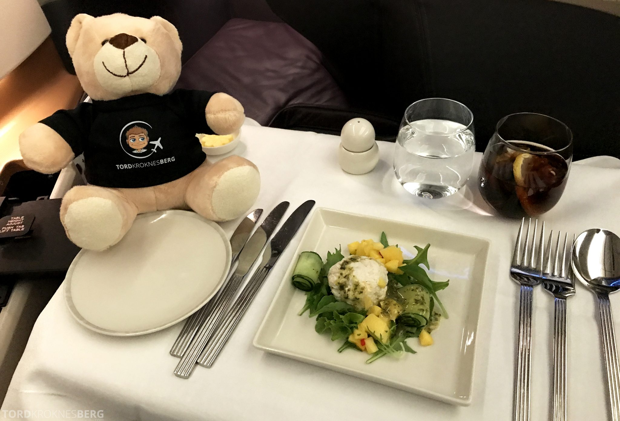 Singapore Airlines Business Class Moskva Stockholm forrett