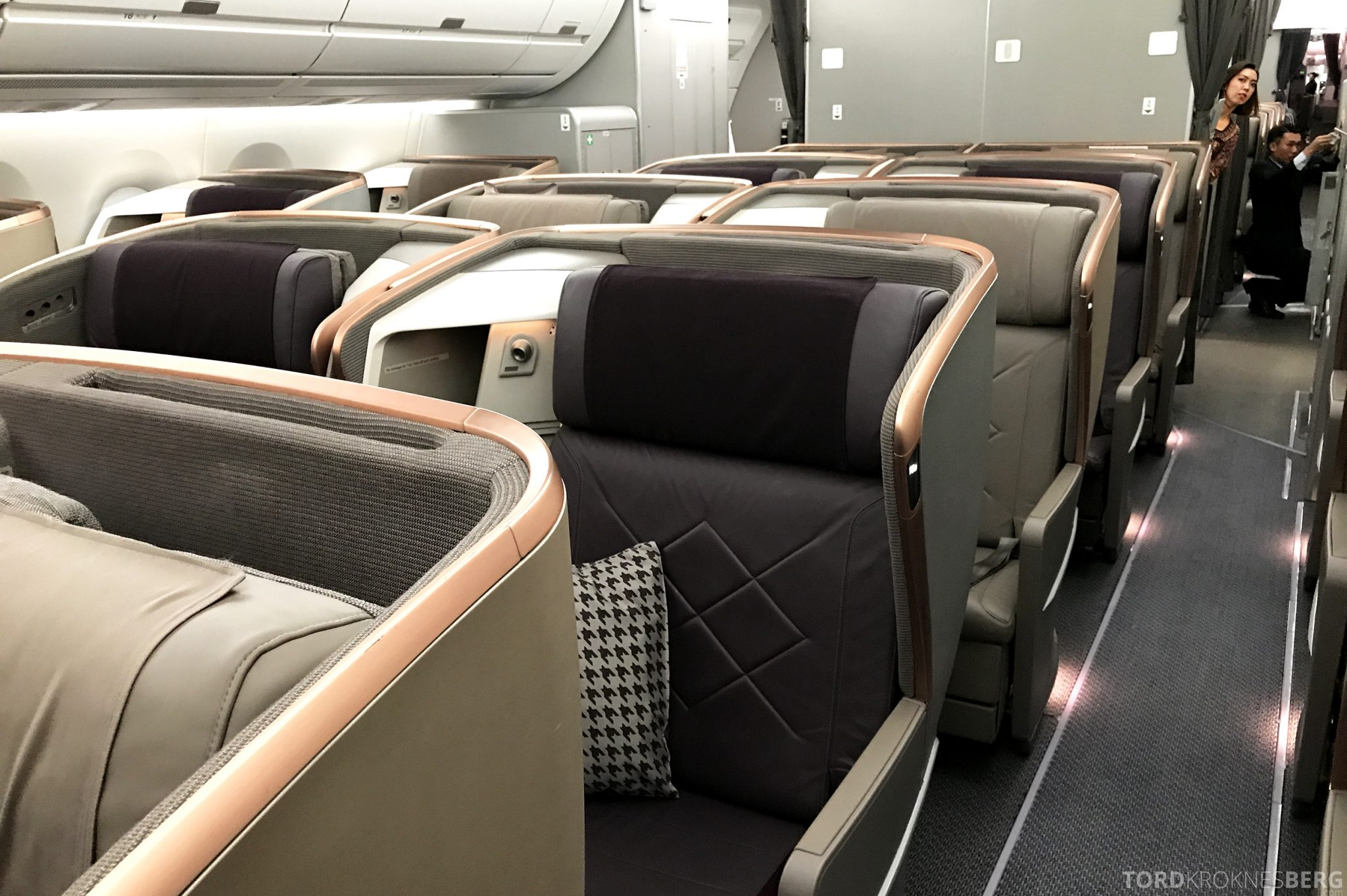 Singapore Airlines Business Class Moskva Stockholm sete