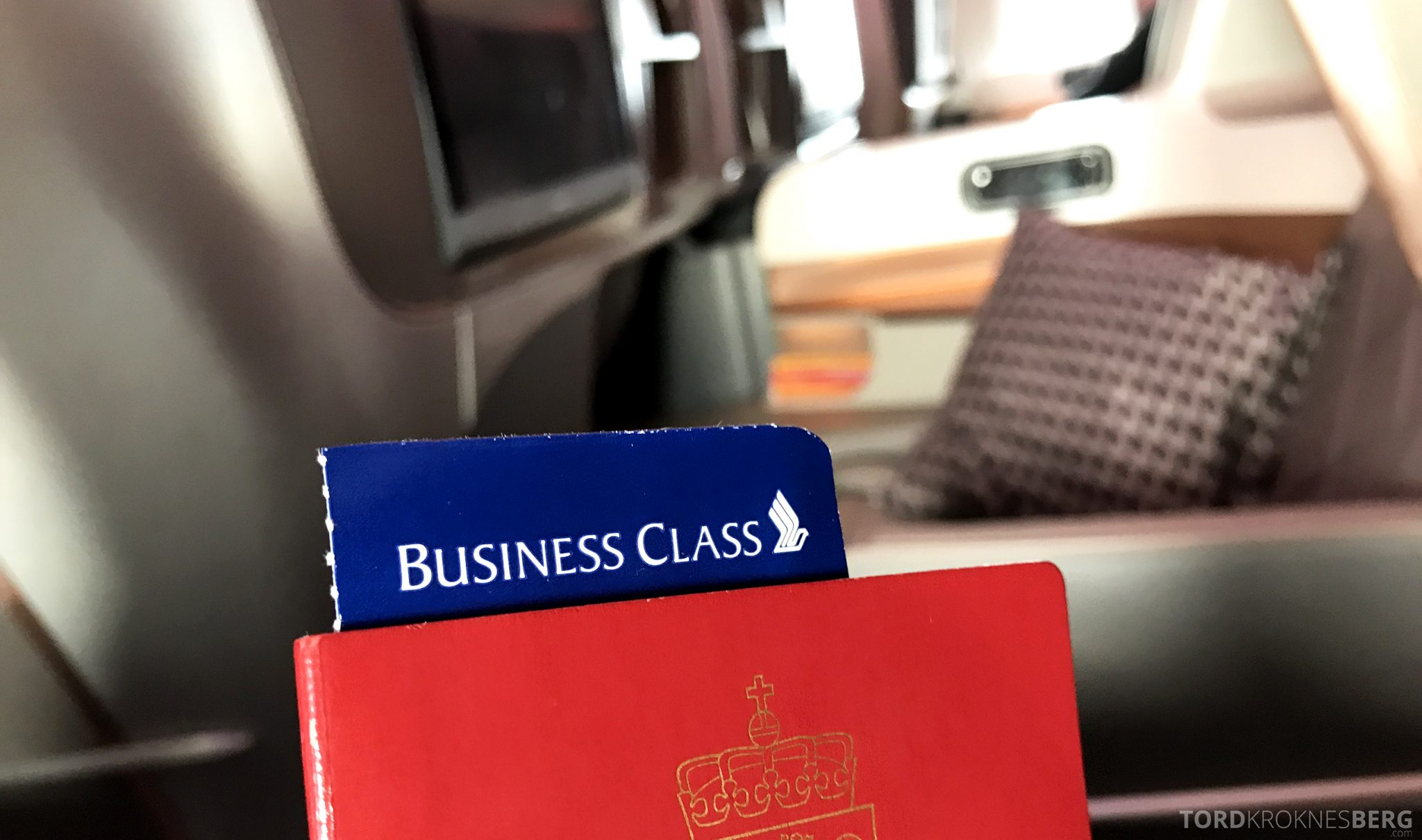Singapore Airlines Business Class Moskva Stockholm billett