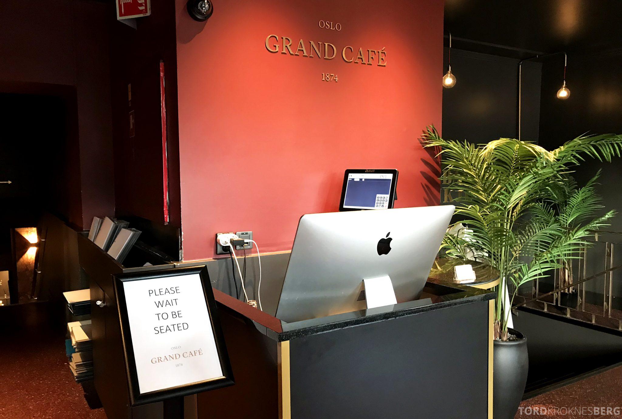 Grand Café Oslo bordhenvisning